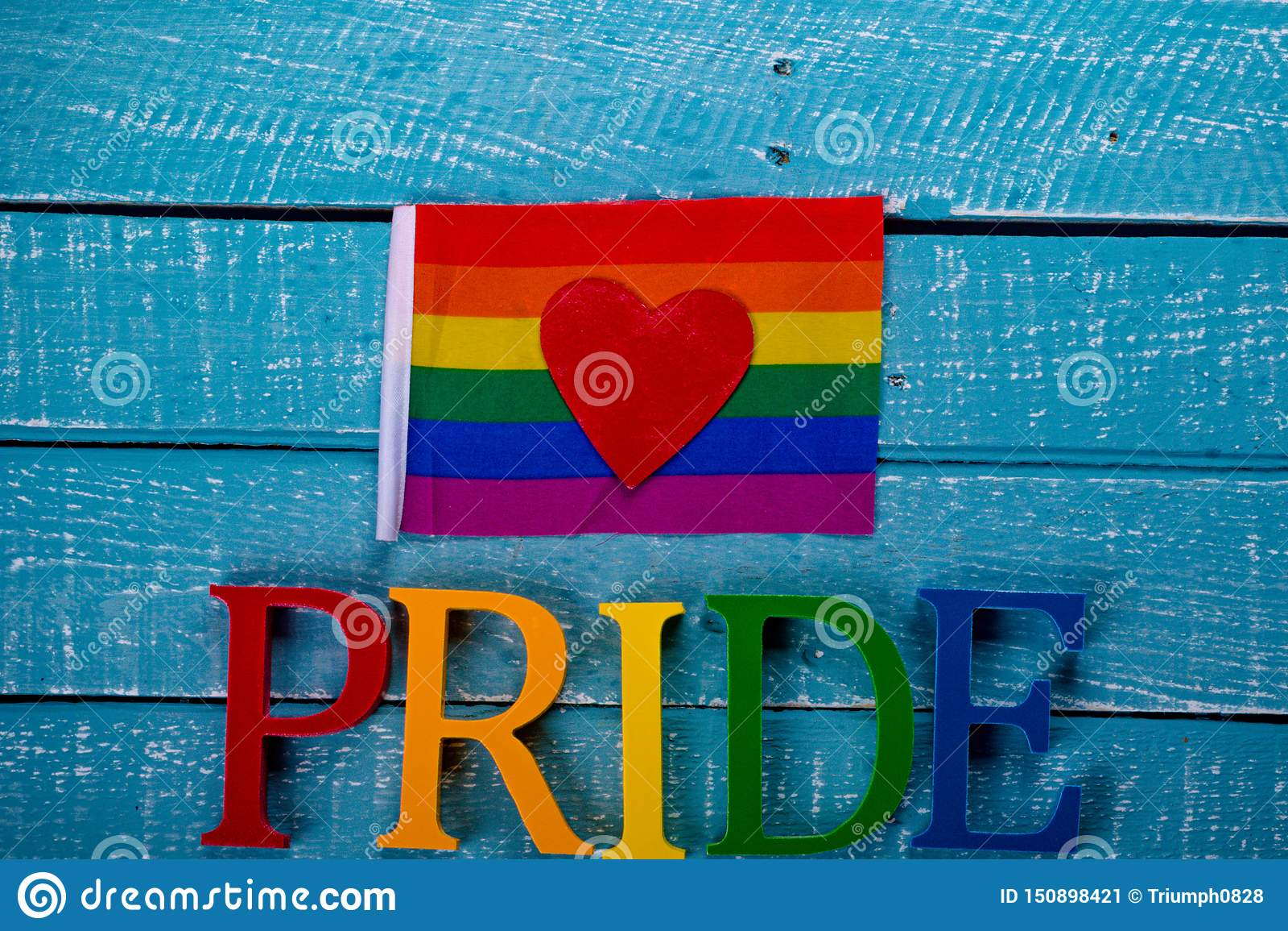 Top down photo of Gay Pride concept