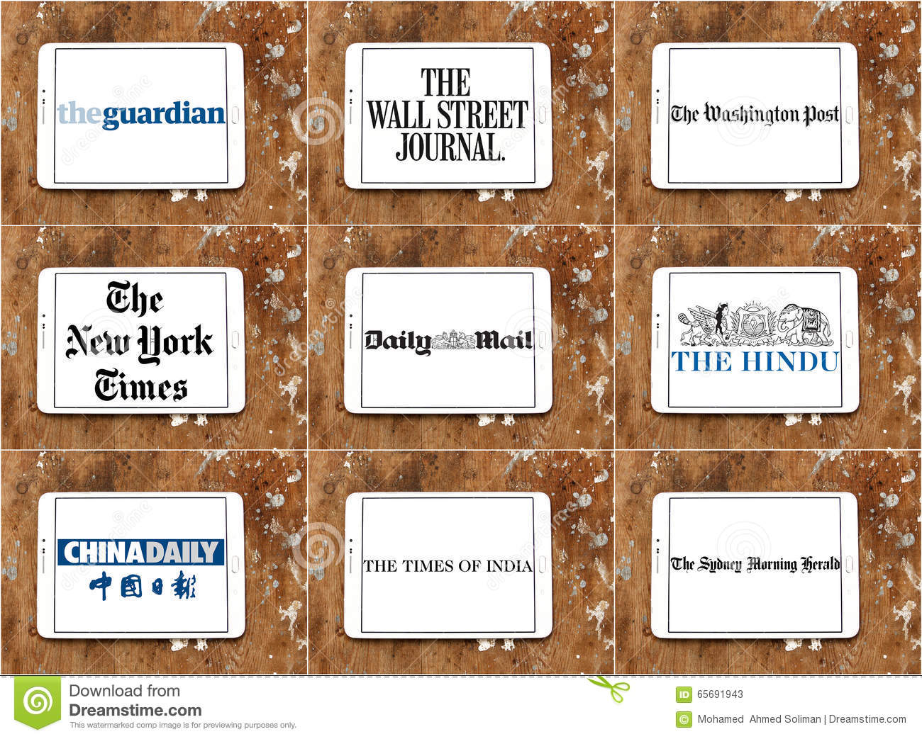 top famous newspaper logos and brands editorial stock photo - image