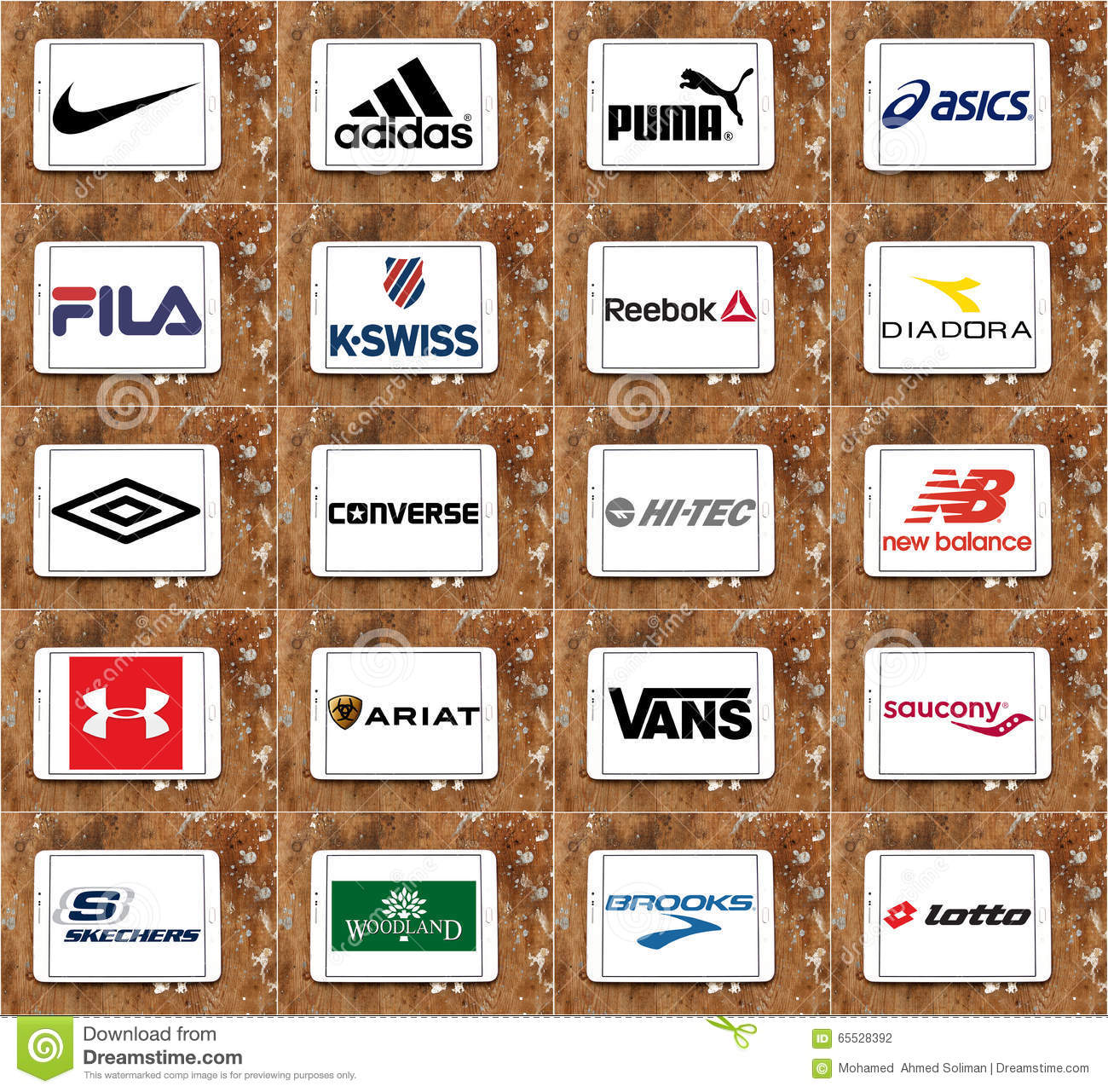 top famous sportswear companies brands and logos editorial photography illustration of. Black Bedroom Furniture Sets. Home Design Ideas