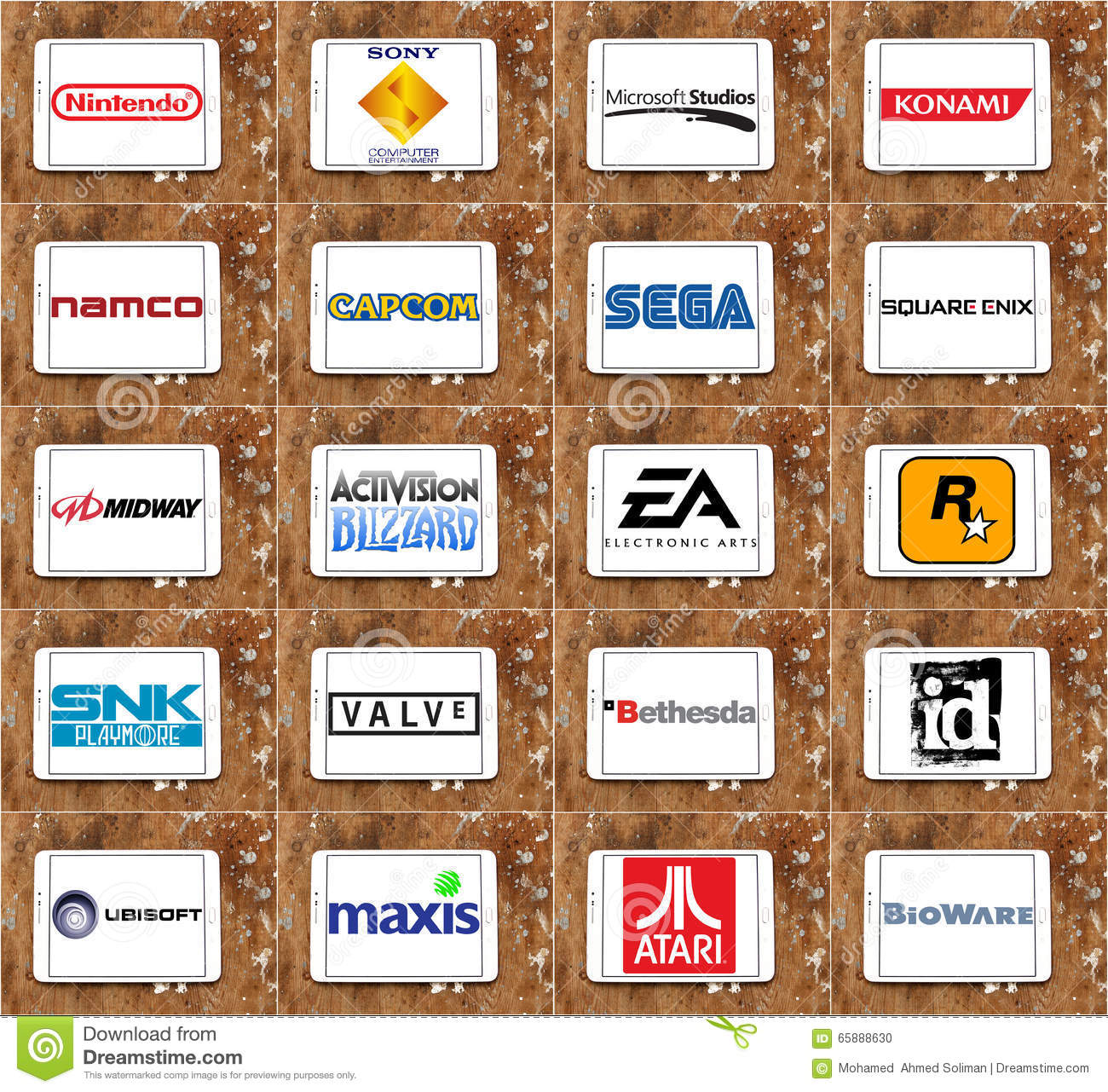 Top Famous Video Game Companies And Developers Logos