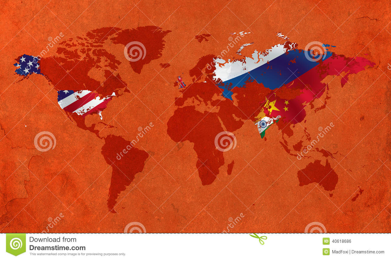 Top Five Most Powerful Countries In The World Stock Illustration - Who is the most powerful country in the world