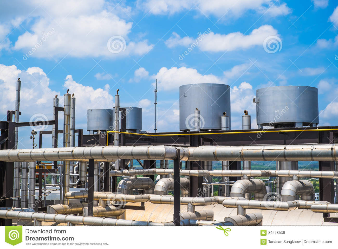 Top Floor Of Boiler In Fuel Gas Power Plant Stock Photo - Image of ...