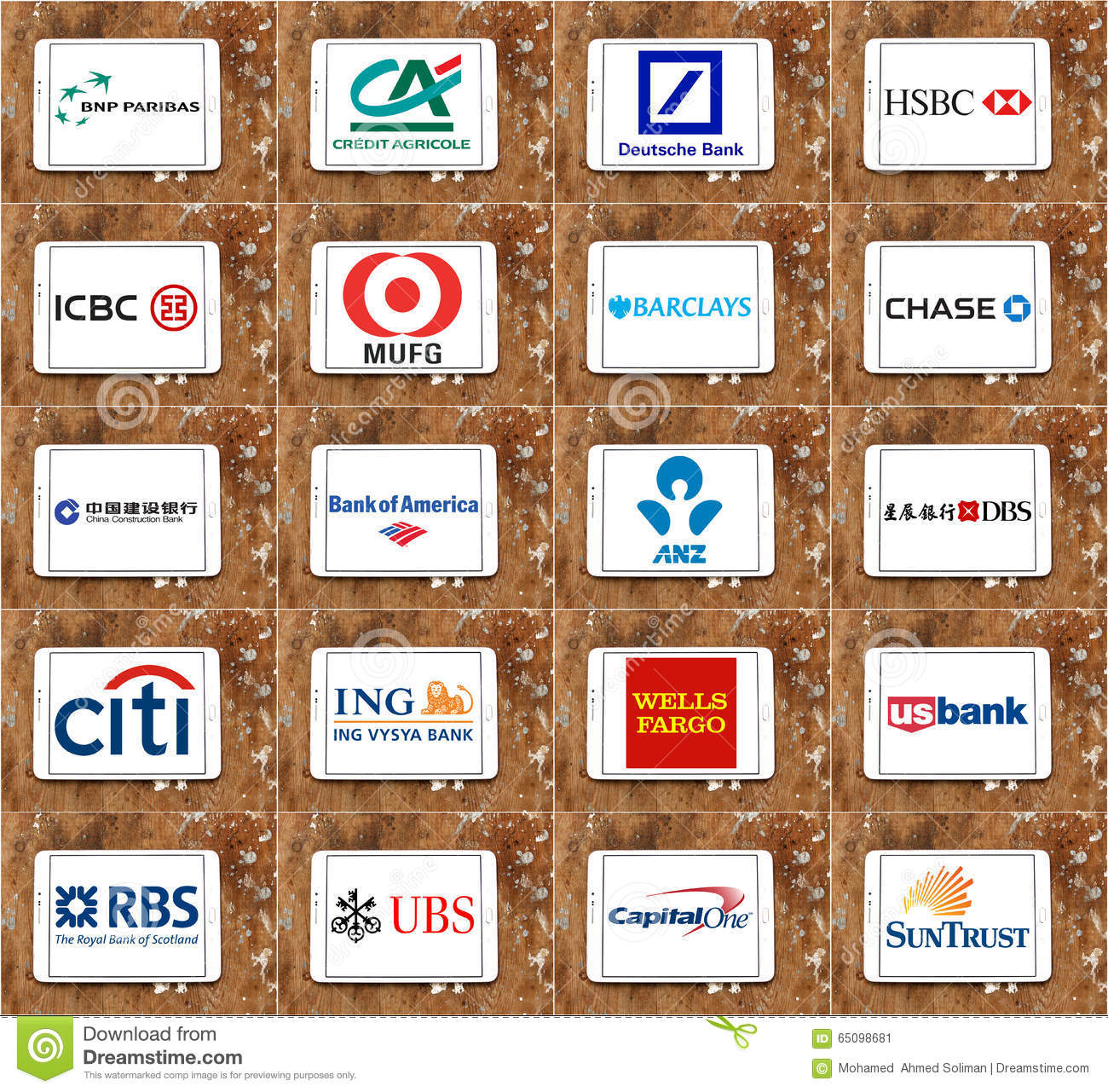 Top Global Banks Brands And Logos Editorial Photo - Image of