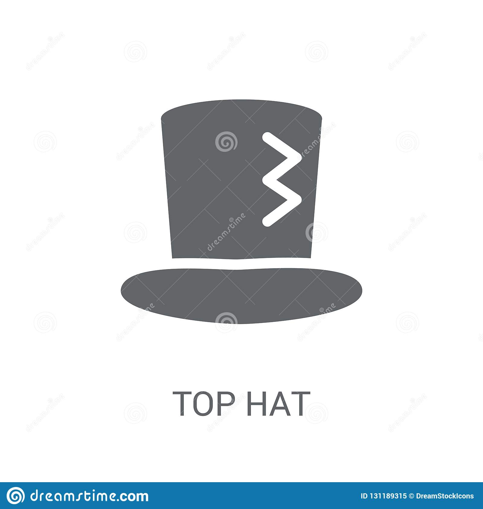 Top Hat Icon. Trendy Top Hat Logo Concept On White ...