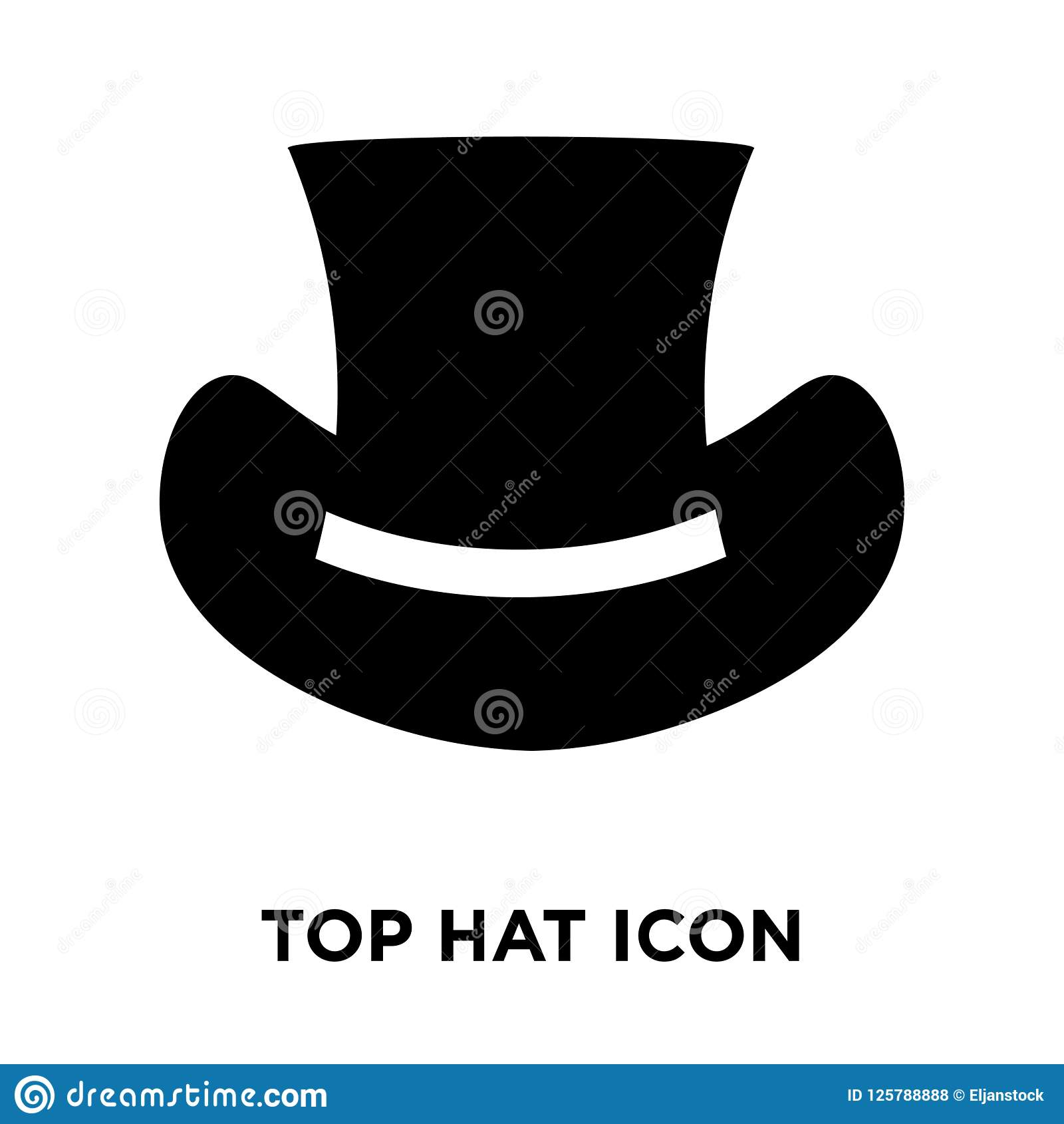 Top Hat Icon Vector Isolated On White Background, Logo ...