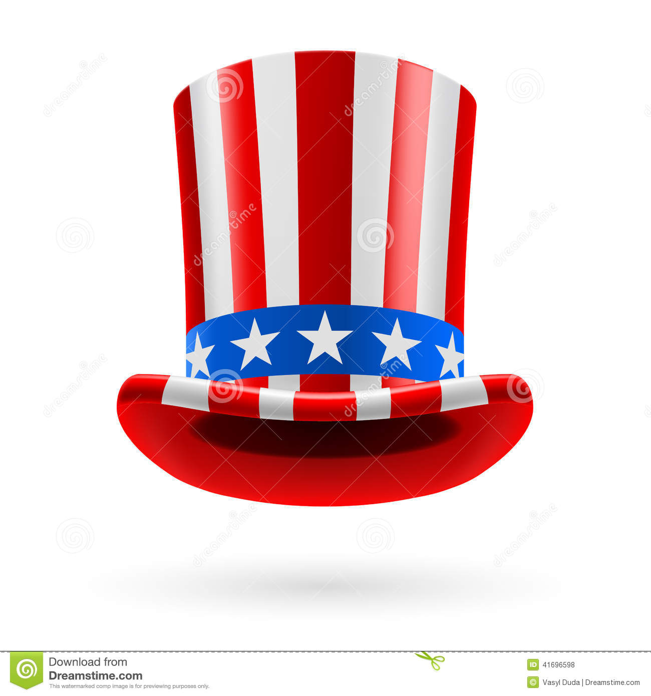 top hat made of us flag stock vector illustration of