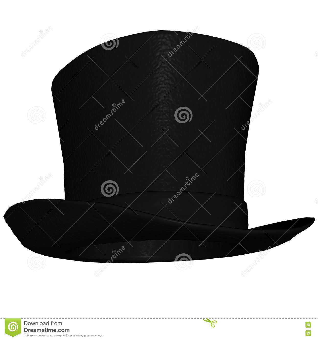 89176cf85 Top-hat Or Topper - 3D Render Stock Illustration - Illustration of ...