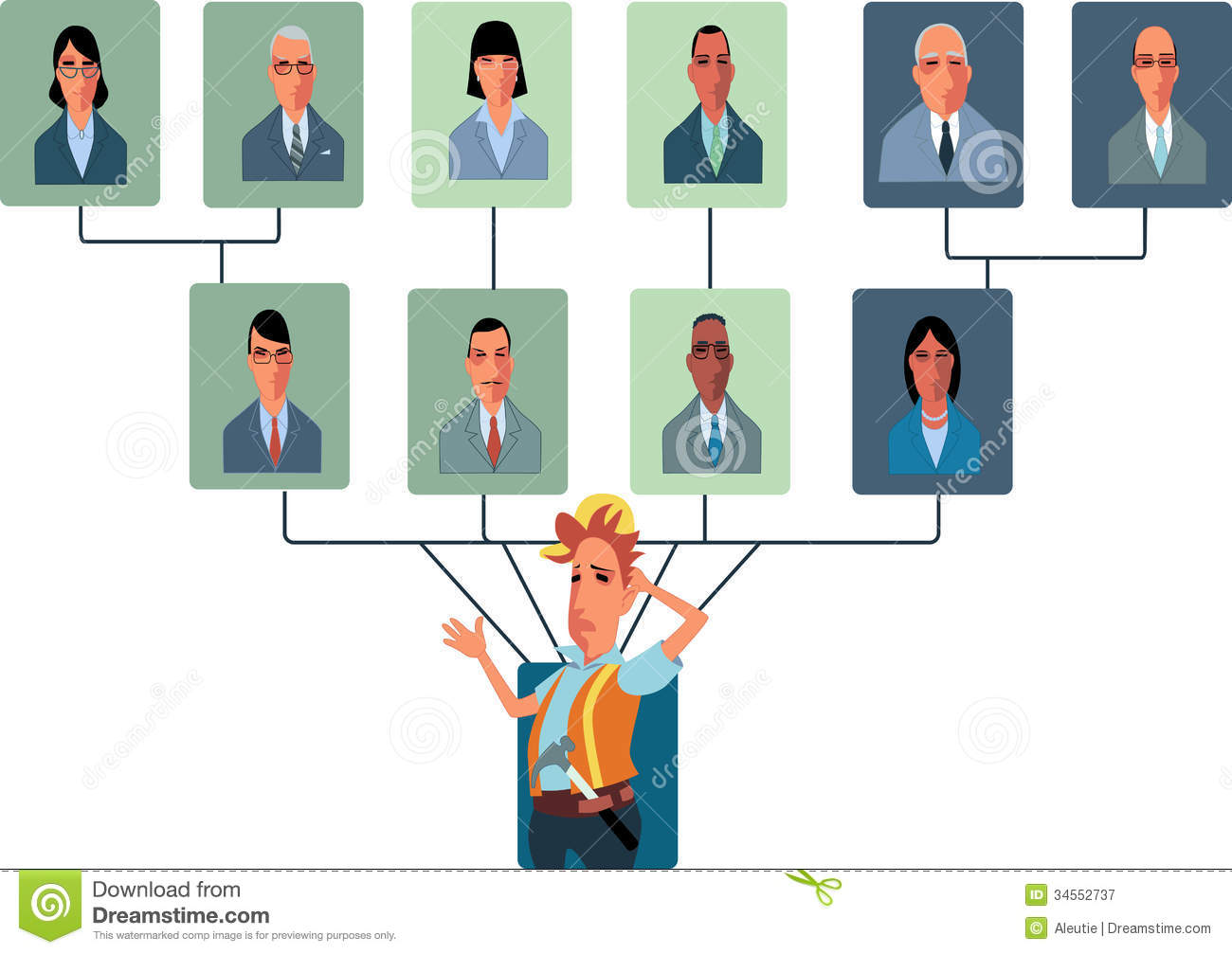 Top-Heavy Organizational Structure Royalty Free Stock Photography ...