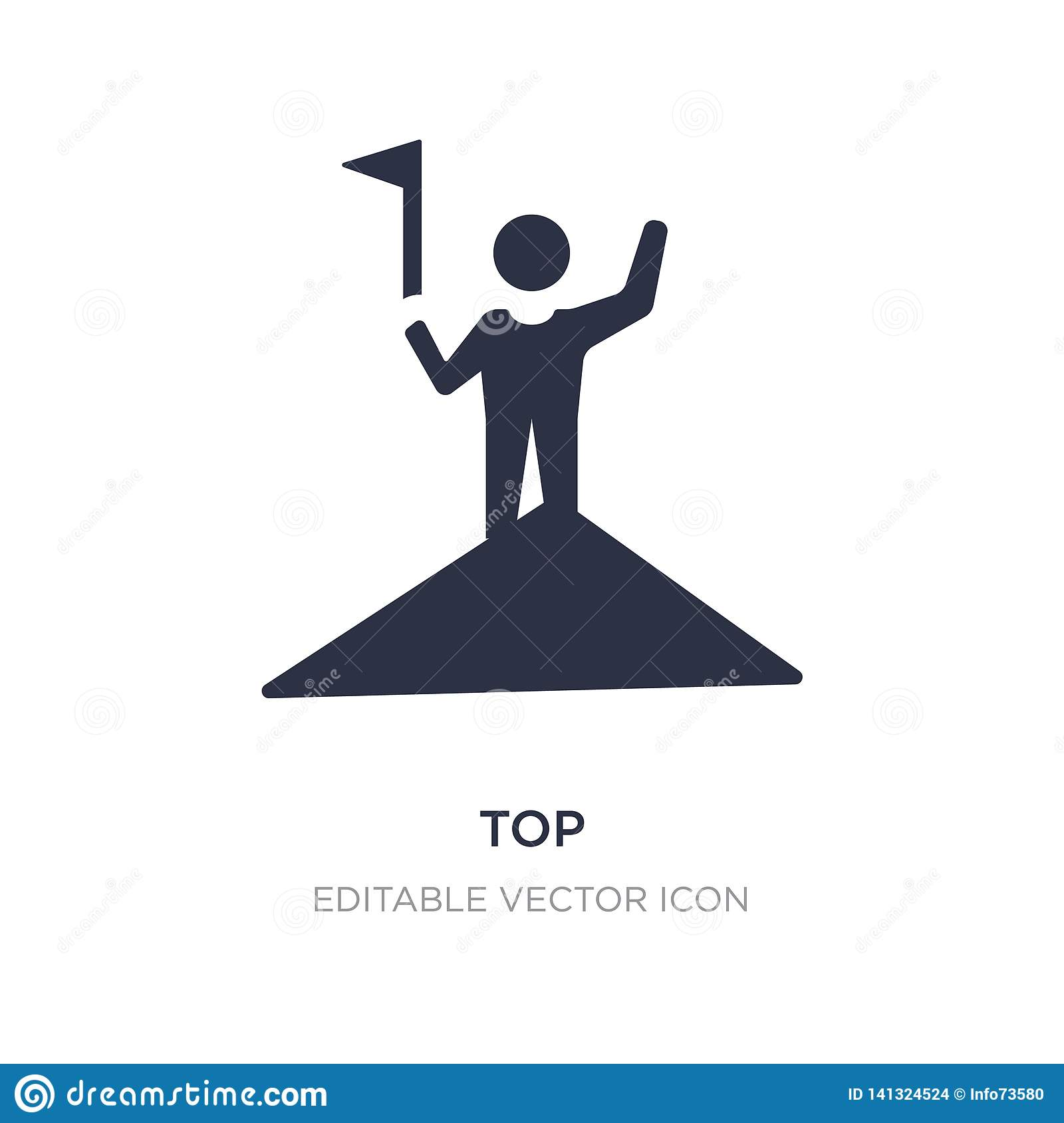 top icon on white background. Simple element illustration from Education concept