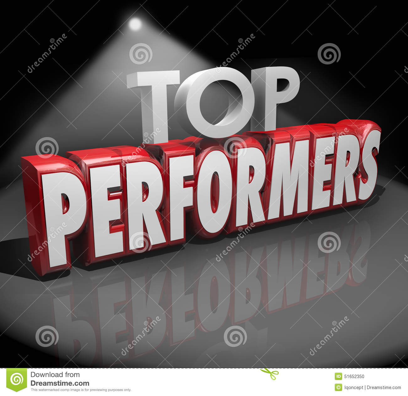 Top Performers Words Stage Recognize Best Workers