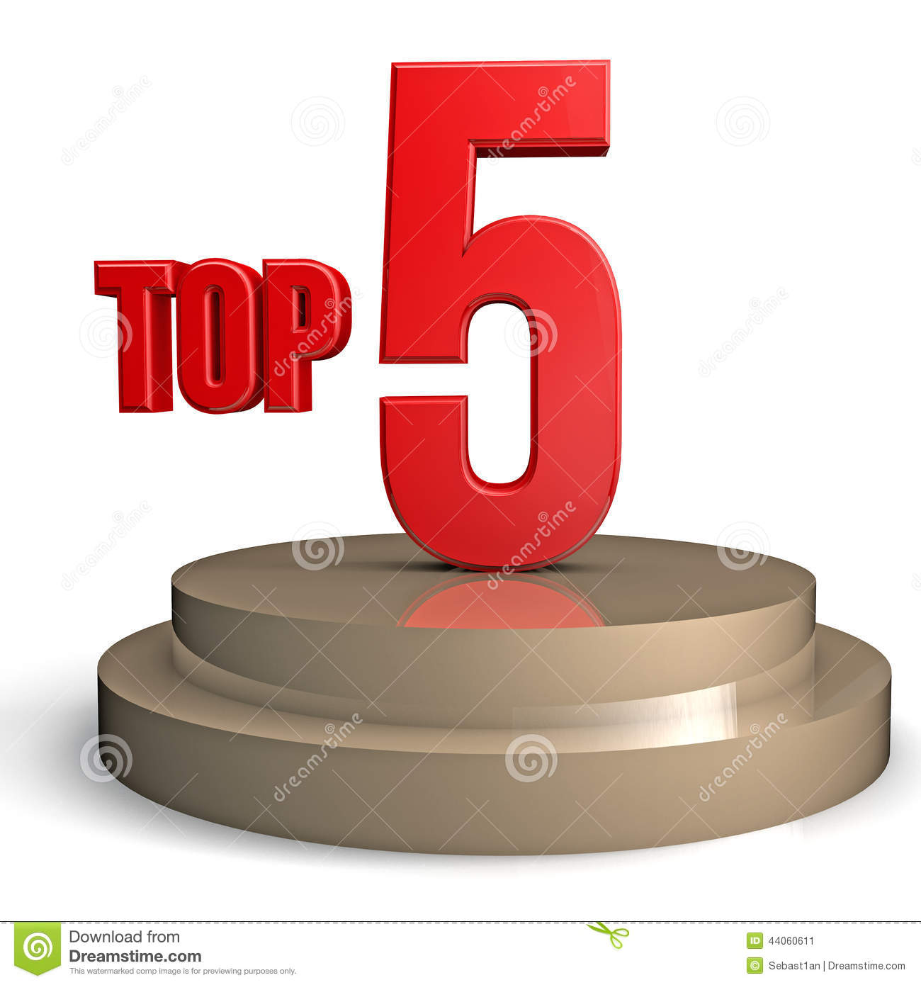 top 5 stock illustration illustration of event chart On top 5 d