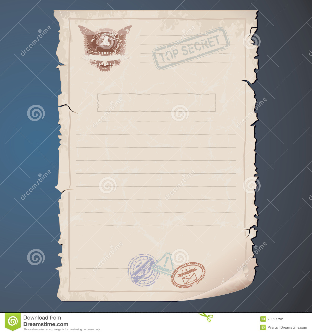 Top Secret Document Stock Photography Image 26397792