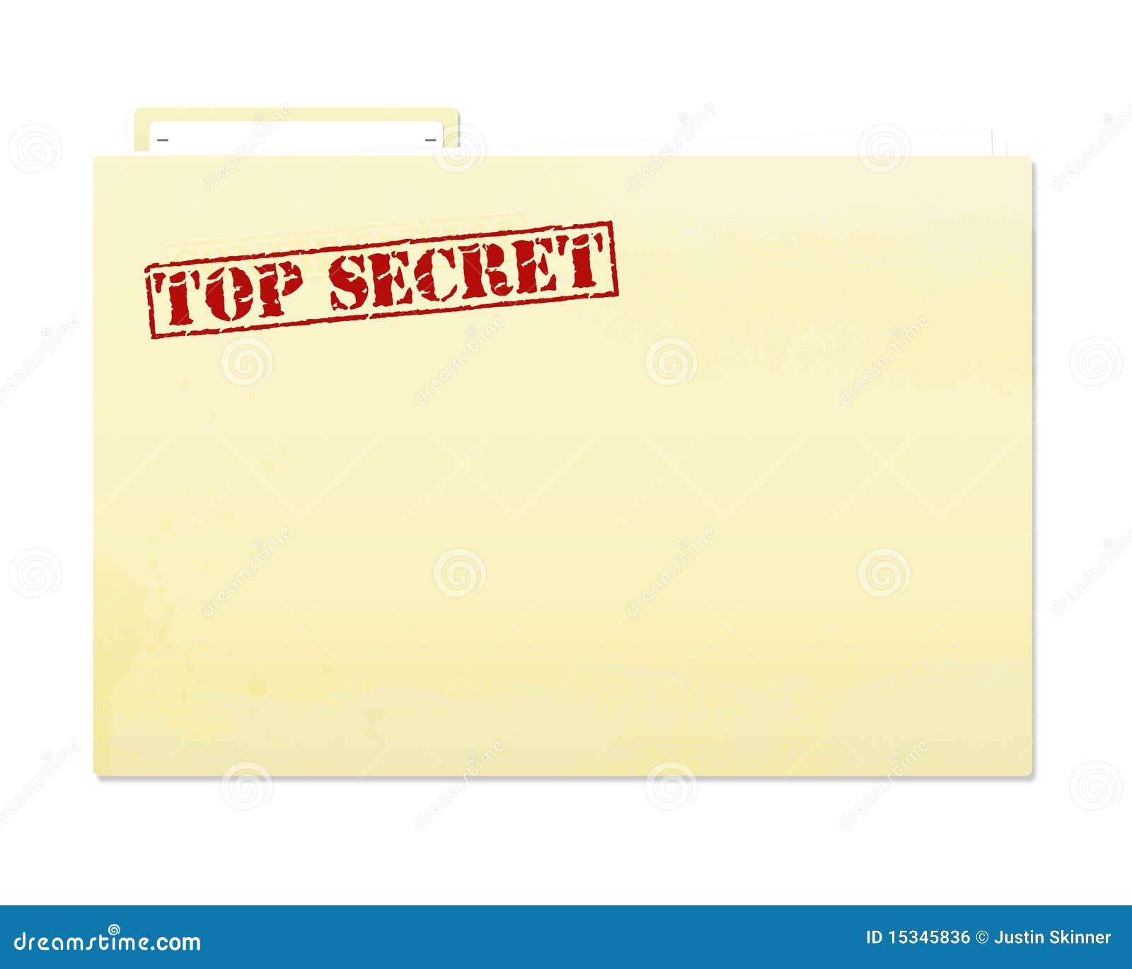 Top Secret File Royalty Free Stock Image Image 15345836