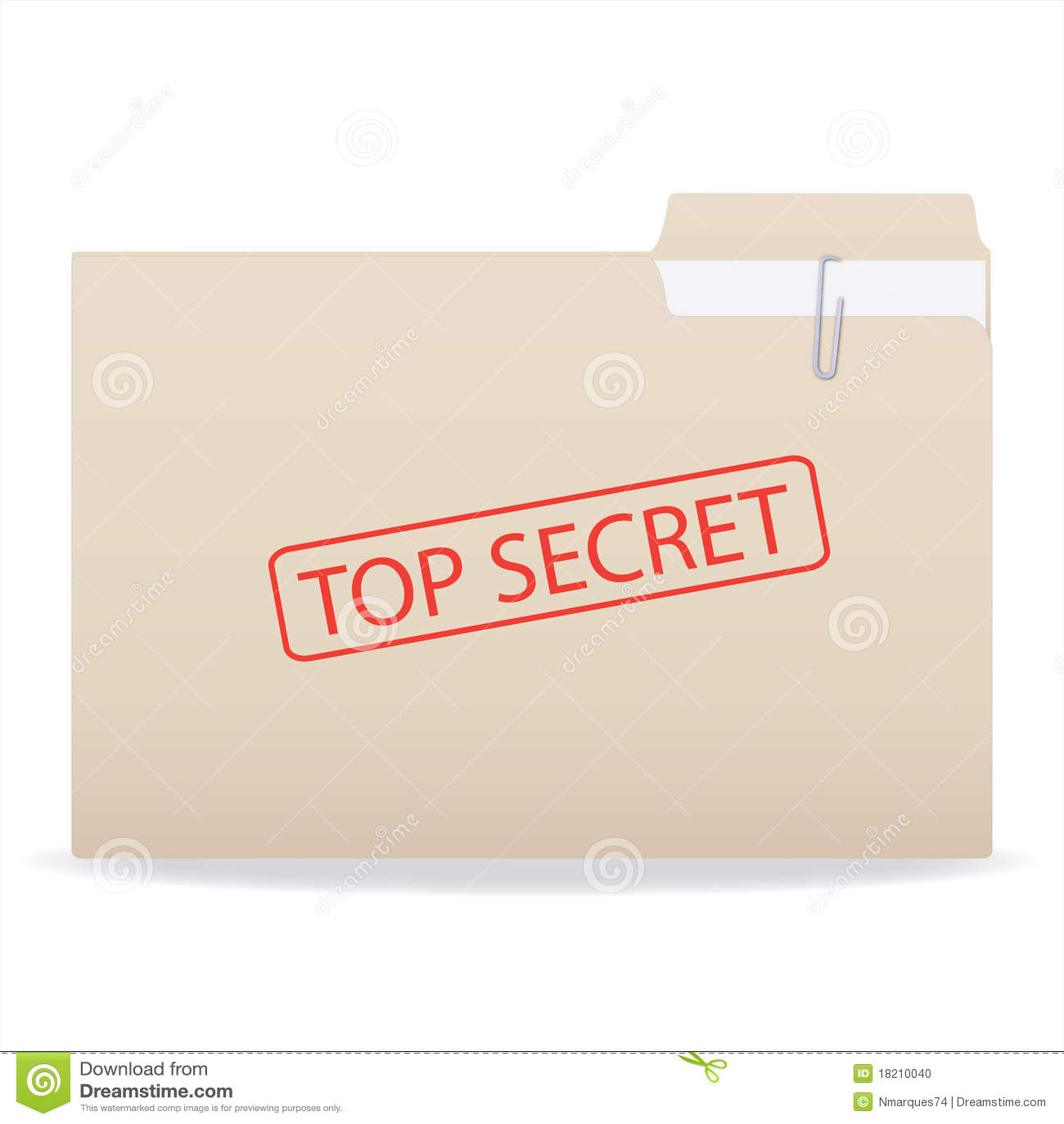 Top secret folder stock photo image 18210040 for Best document folder
