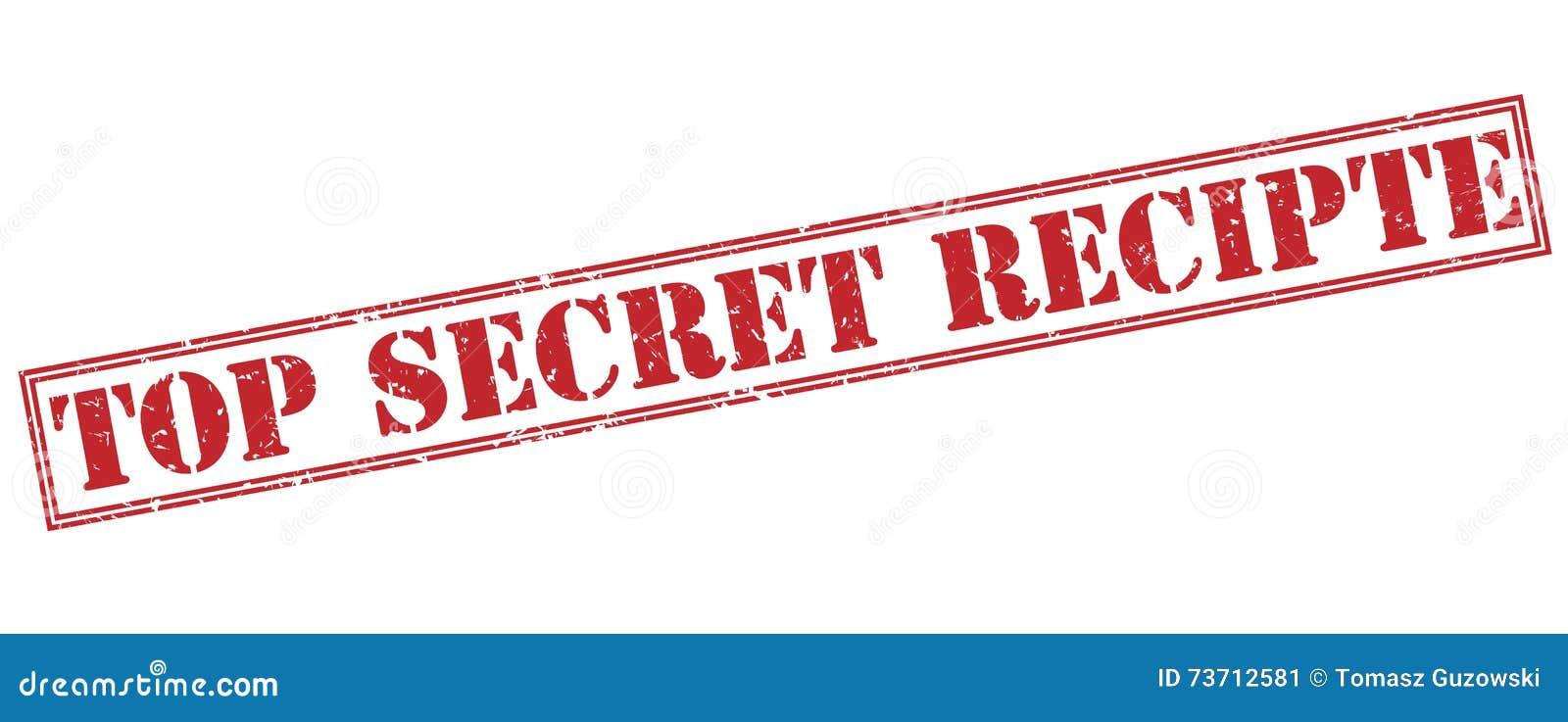 top secret recipte red stamp stock illustration illustration of