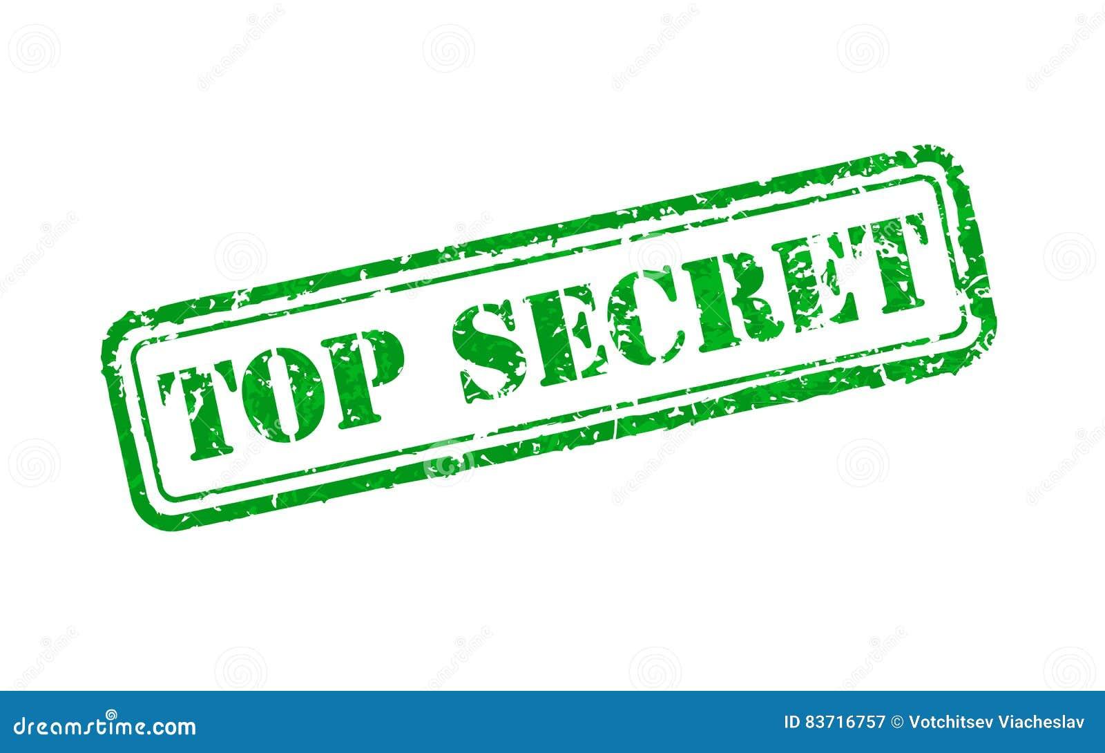 Top Secret Rubber Stamp Stock Vector