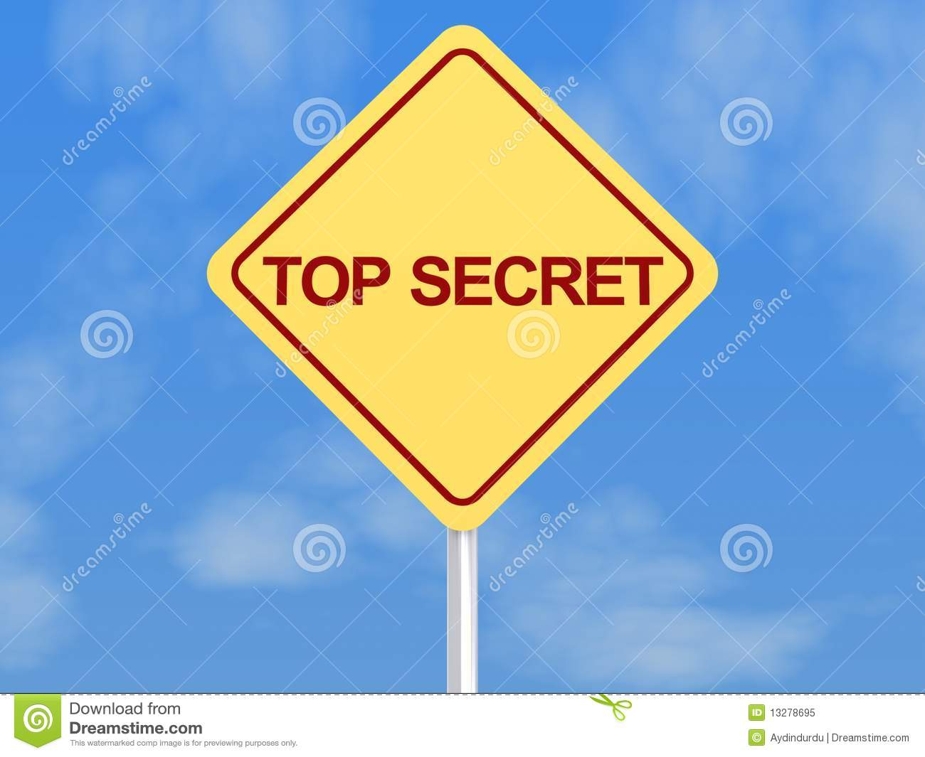 Top Secret Sign Royalty Free Stock Photo - Image: 13278695