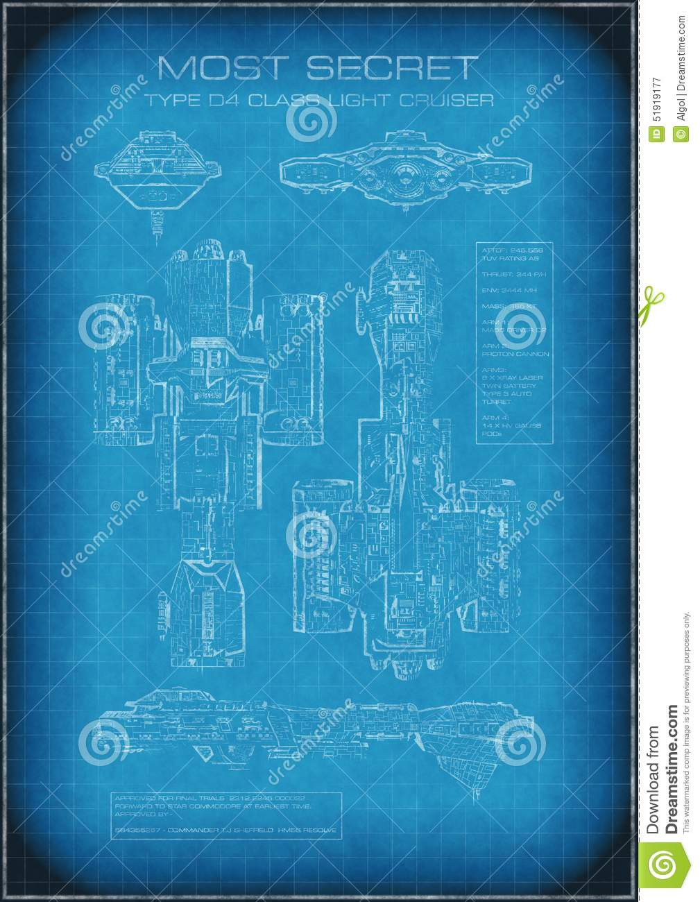 Top secret spaceship blueprint with text stock illustration download comp malvernweather Images