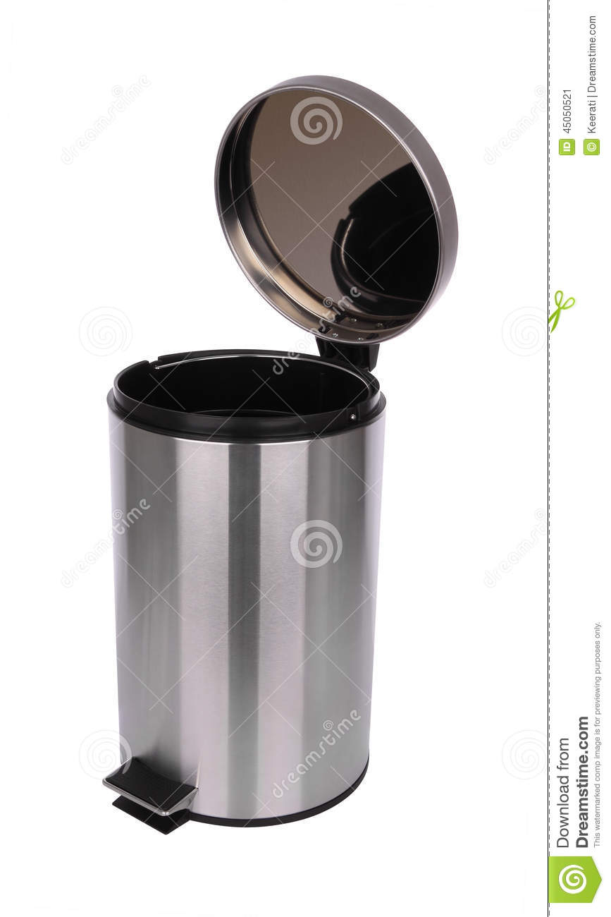 Top Side Of Opened Trash Can Scratch Surface Stock Photo - Image ...