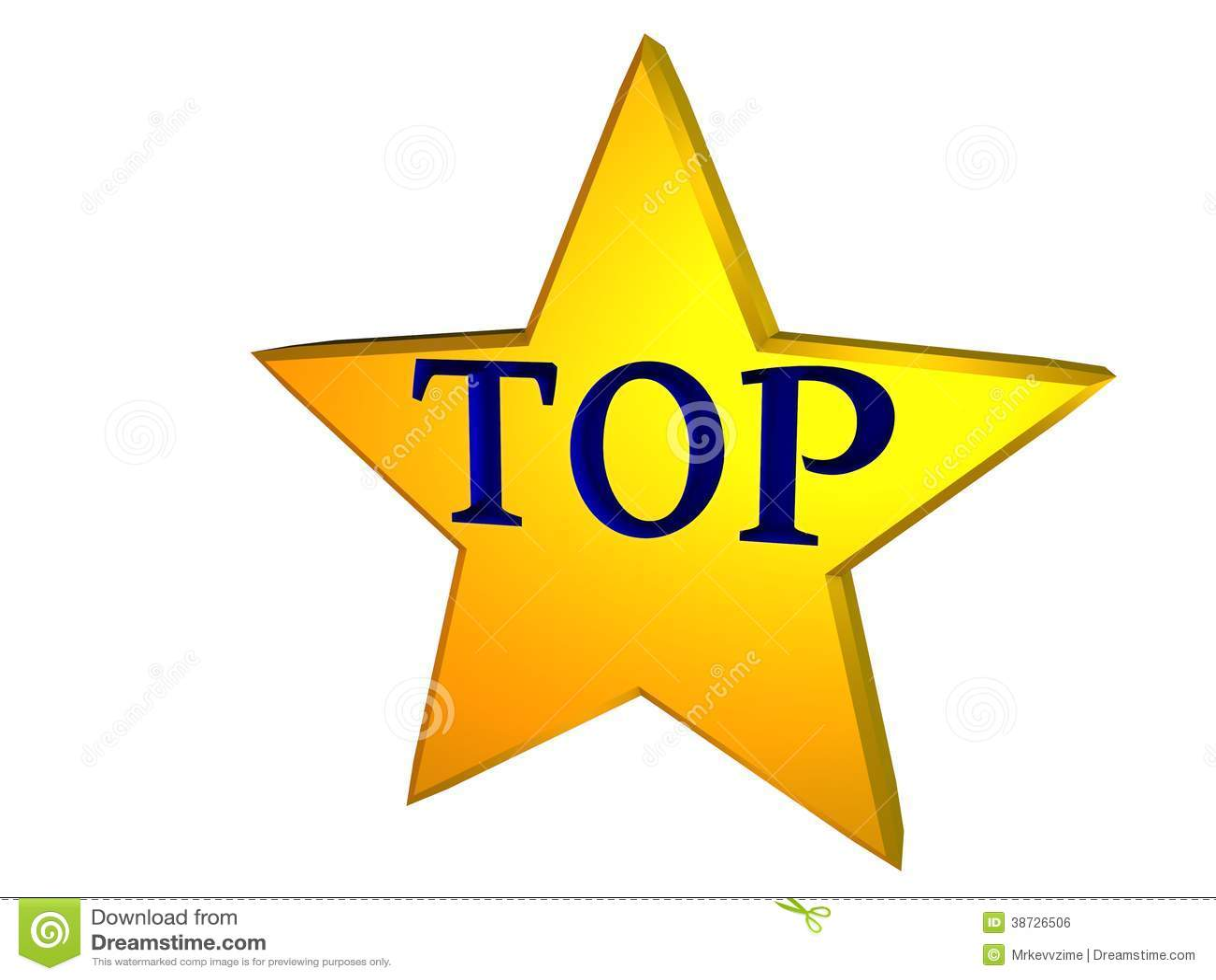 Top Star Stock Illustration Illustration Of Shiny Gold