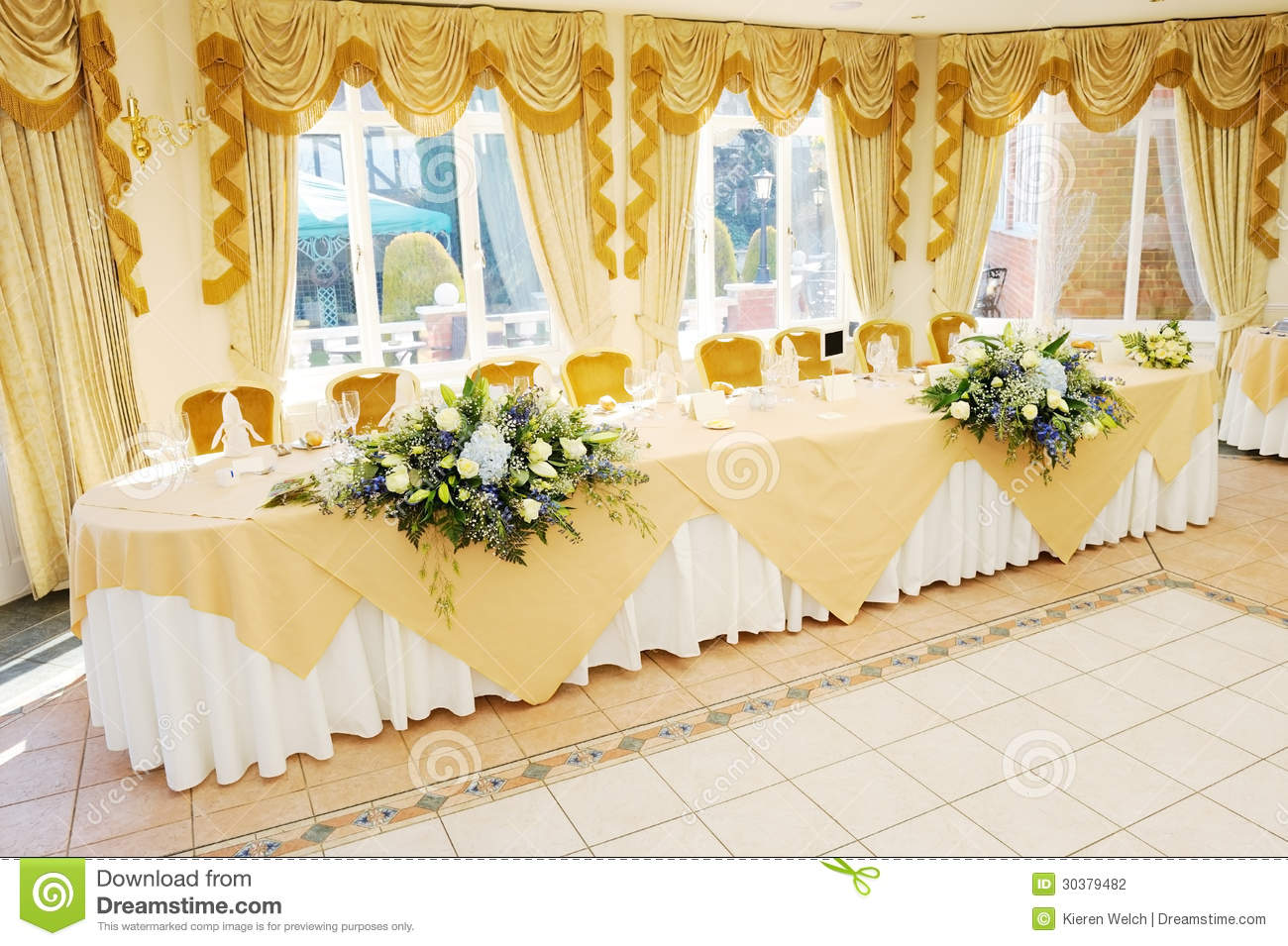 Top Table At Wedding Reception Stock Photo Image Of