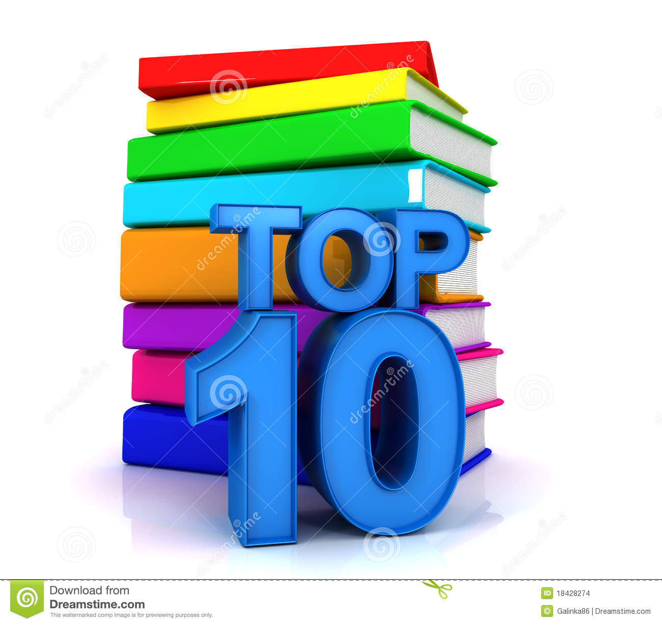 Top Ten Books Stock Images