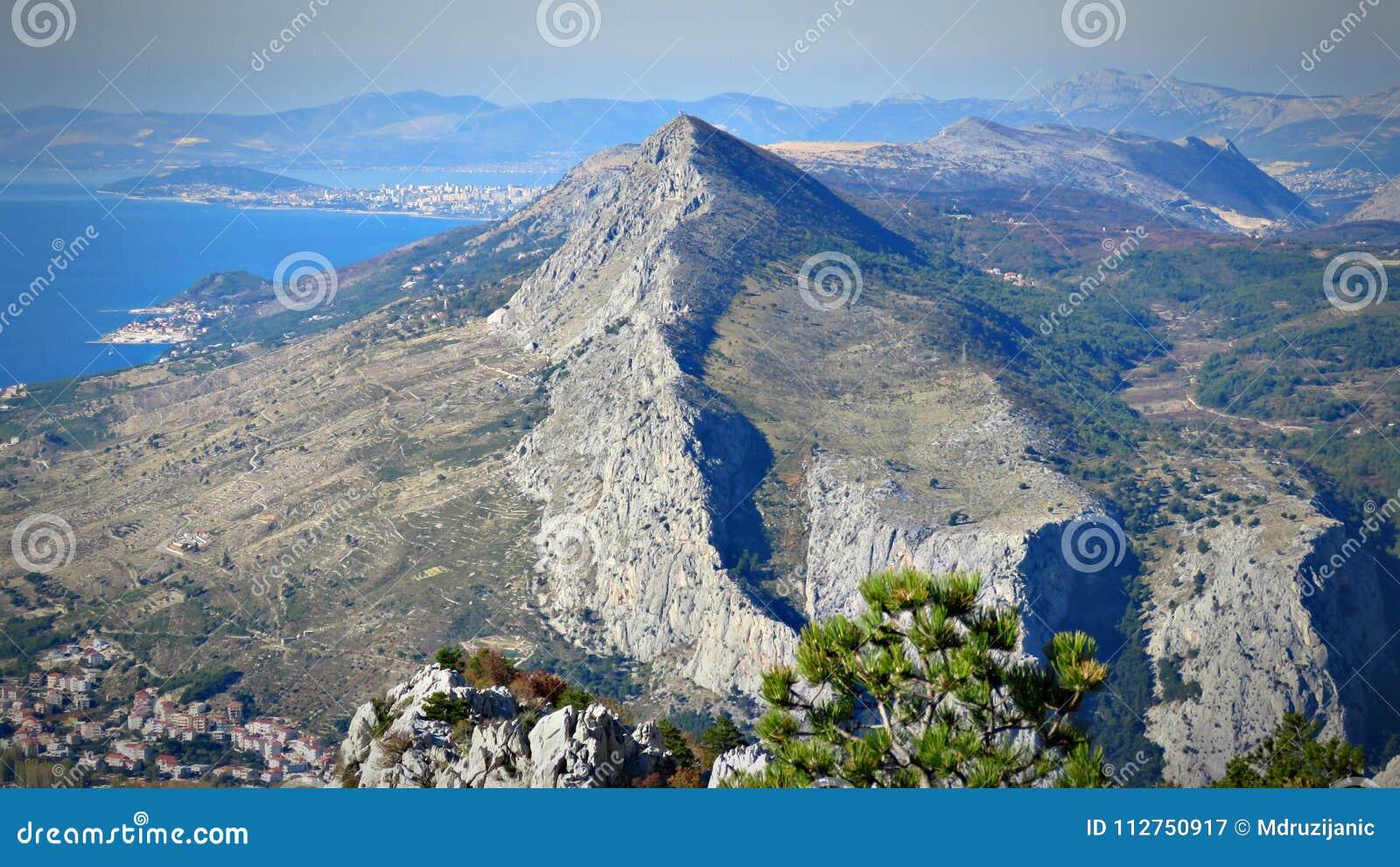 On top of the town Omiš, Croatia