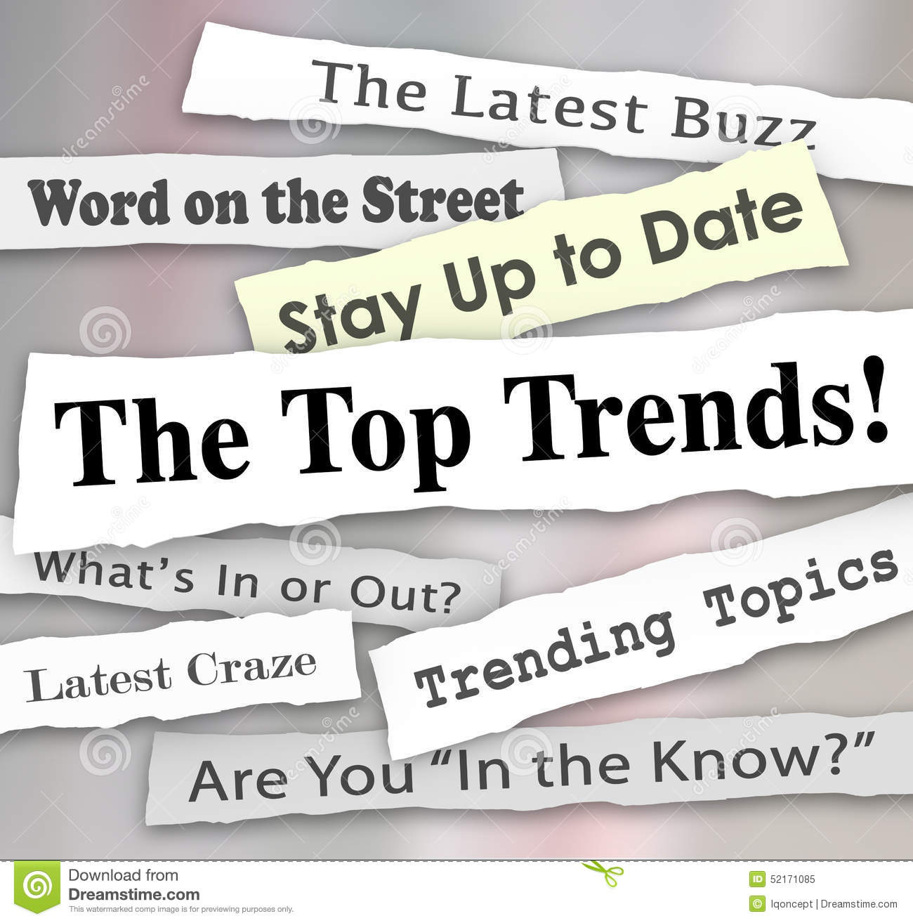 The Top Trends Hot New Ideas Latest Fads Fashion Ideas Innovatio Stock Illustration Image