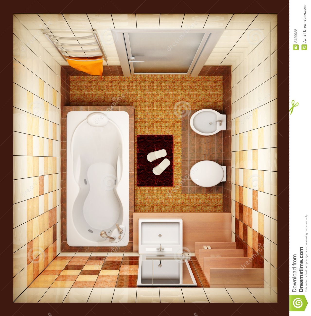 Bathroom Designs Top View Of Top View Of The Bathroom Stock Photo Image Of Decor