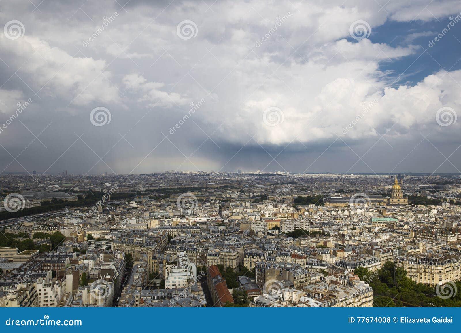 Top view of the beautiful Paris