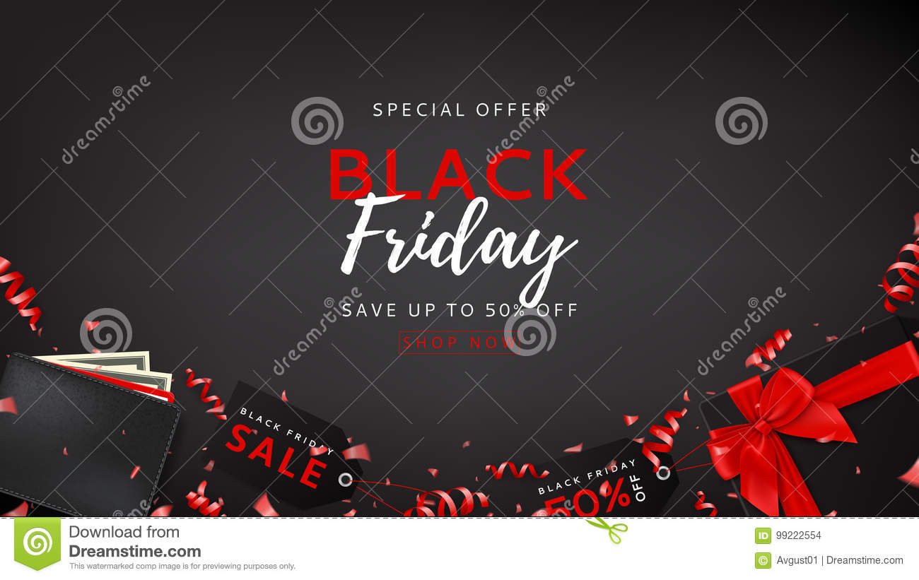 Dark Web Banner For Black Friday Sale Stock Vector - Illustration of