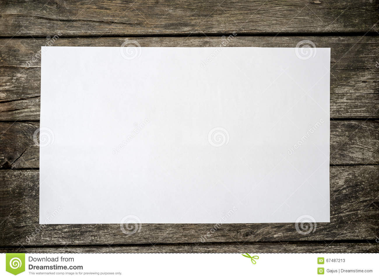 top view of blank white piece of paper stock photo 67487213 megapixl