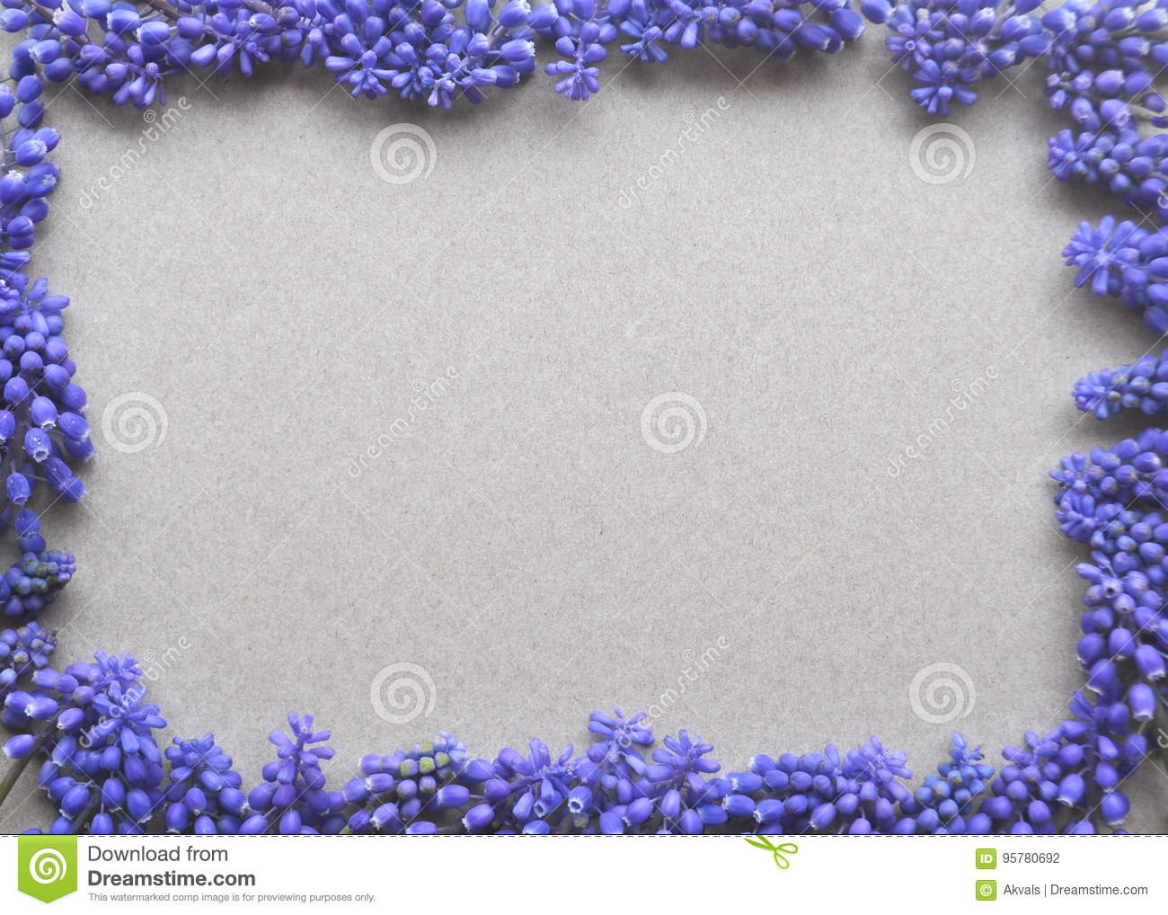 Top View Of A Brow Kraft Paper Background With Purple Violet