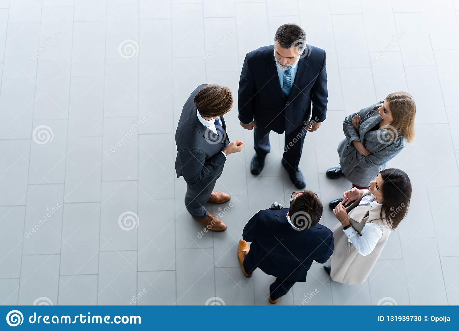 Top view of business people, Business meeting and teamwork .