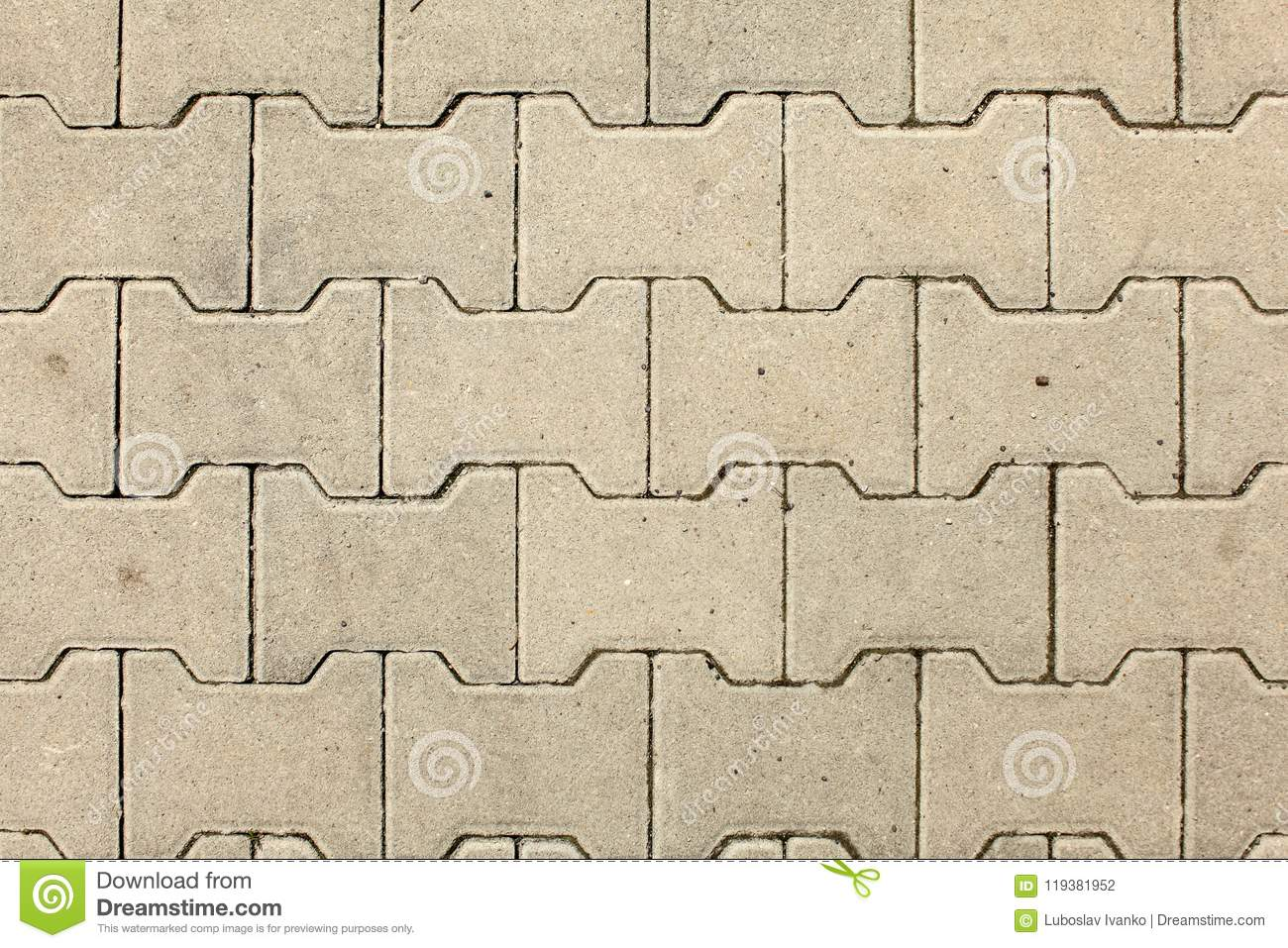 Top View On City Stone Floor Texture Lit By Sun  Stock Photo - Image