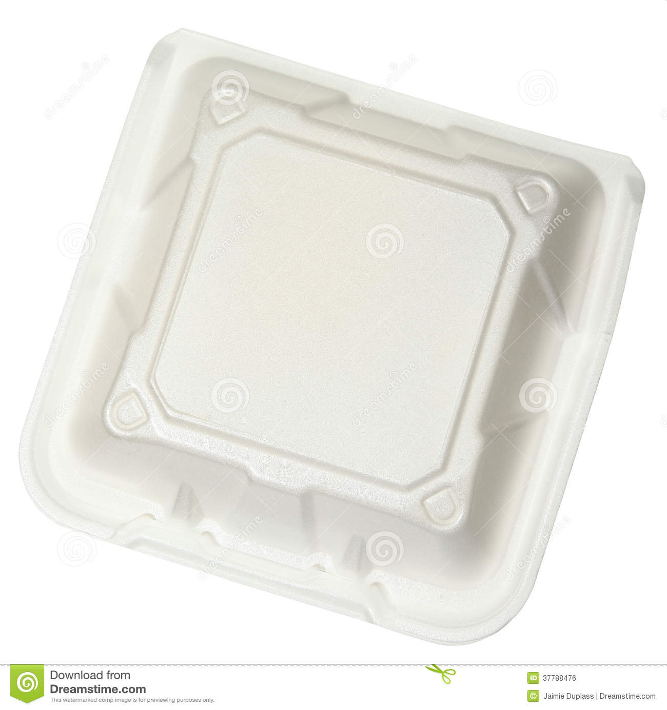 Top view closed styrofoam food container royalty free stock image