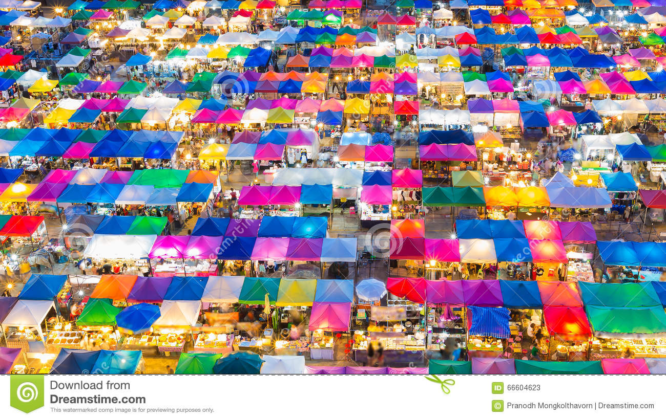 Top view colours full weekend market