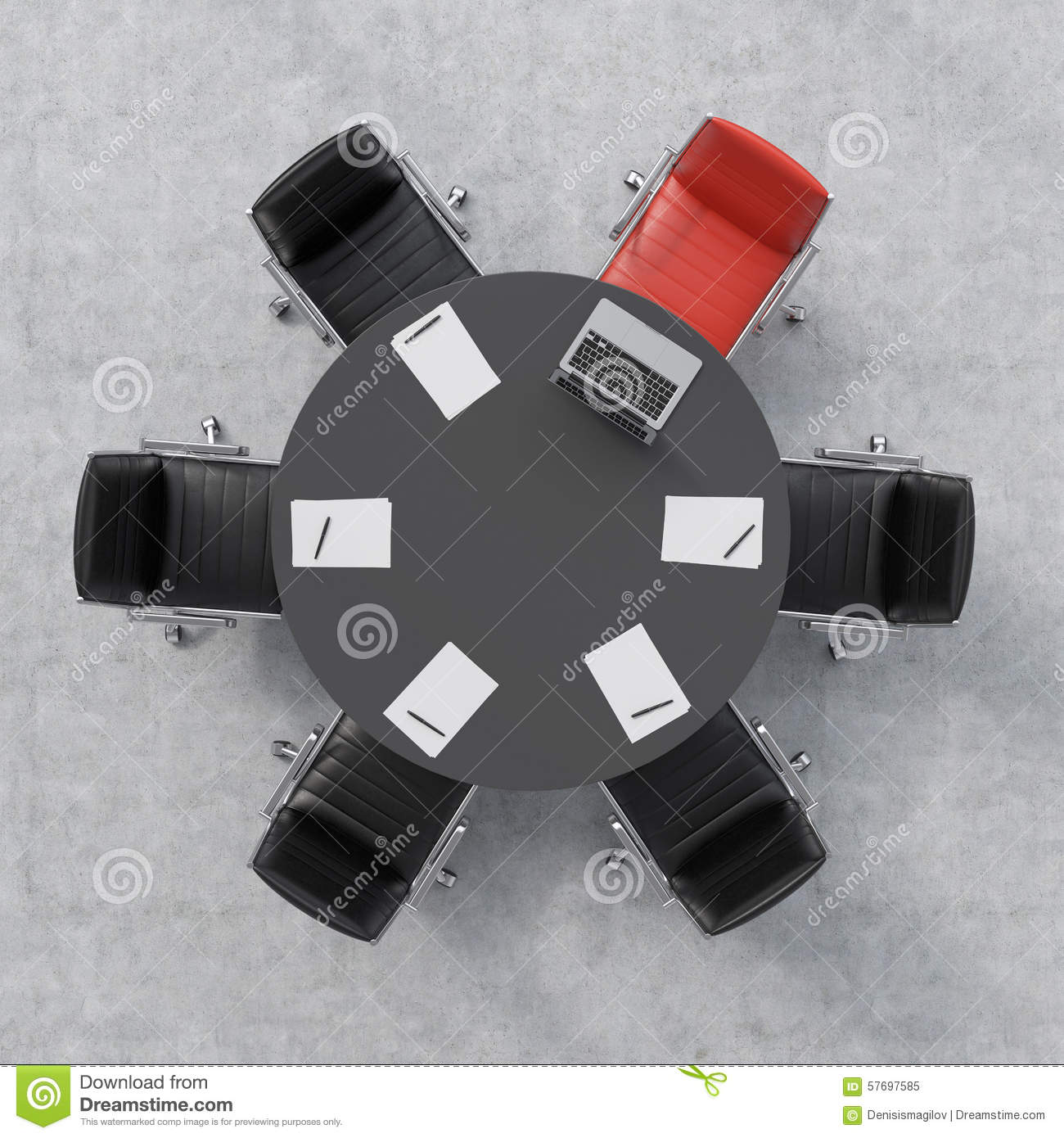 Red conference room chairs - Editorial Stock Photo