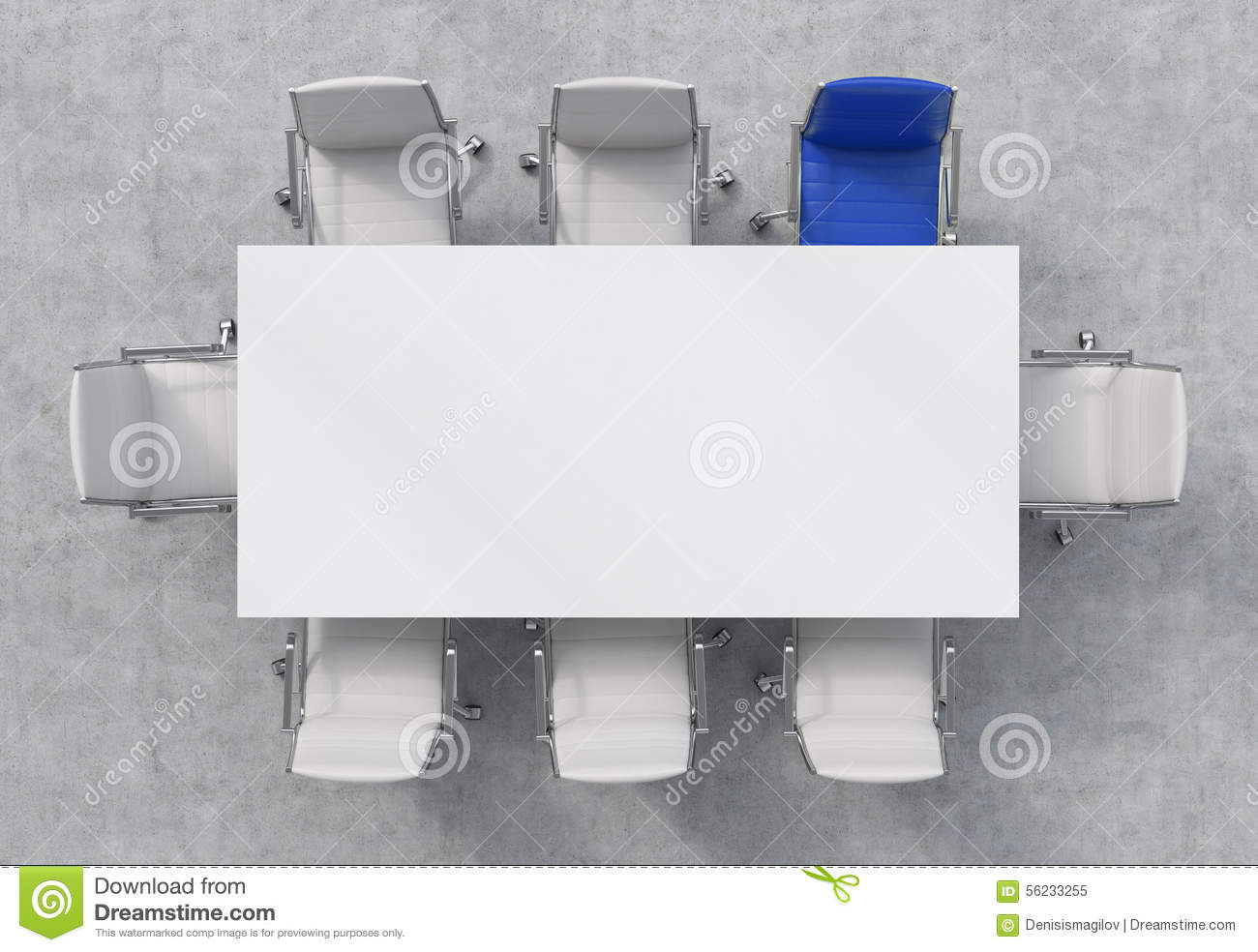 Rectangular Stock Illustrations Rectangular Stock - Conference room table and chairs clip art