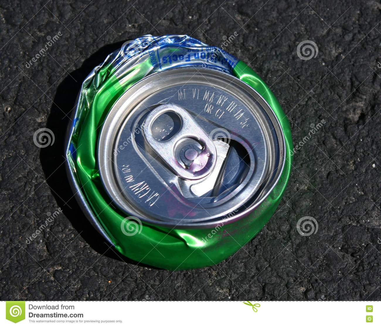 Crushed Sprite Can