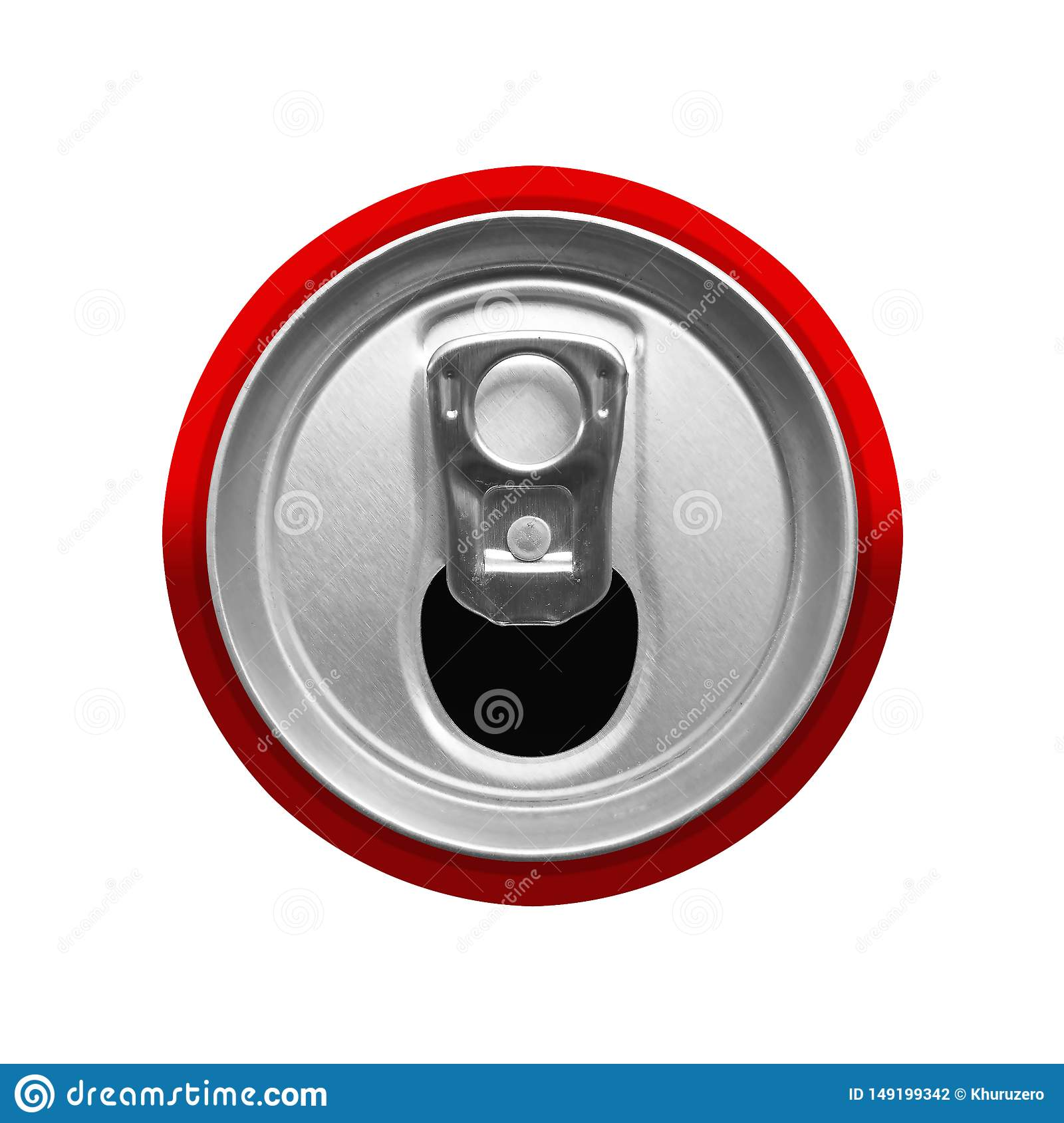 top view of drink can
