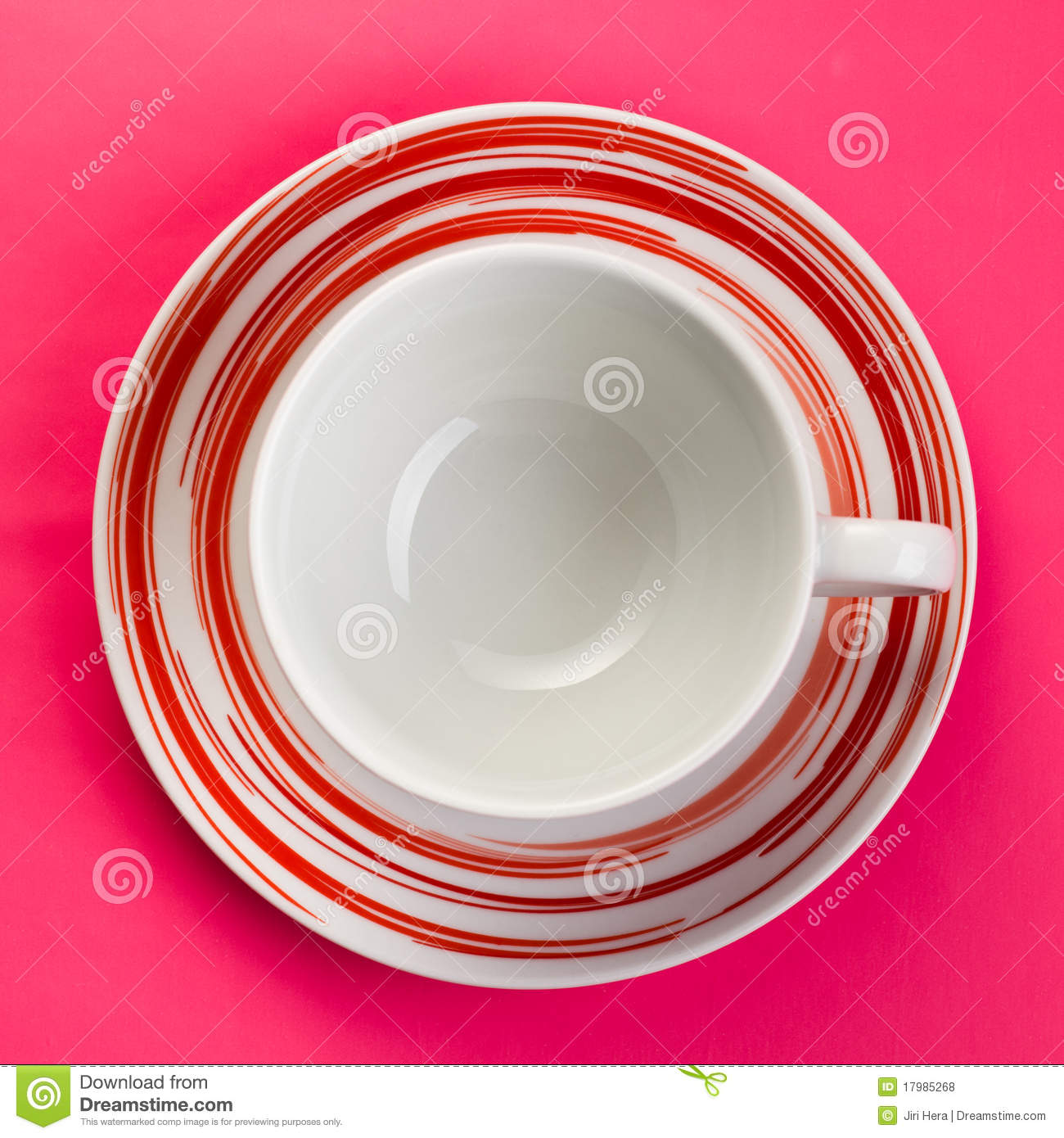 Empty Cup Top : Top view of empty coffee cup royalty free stock photos