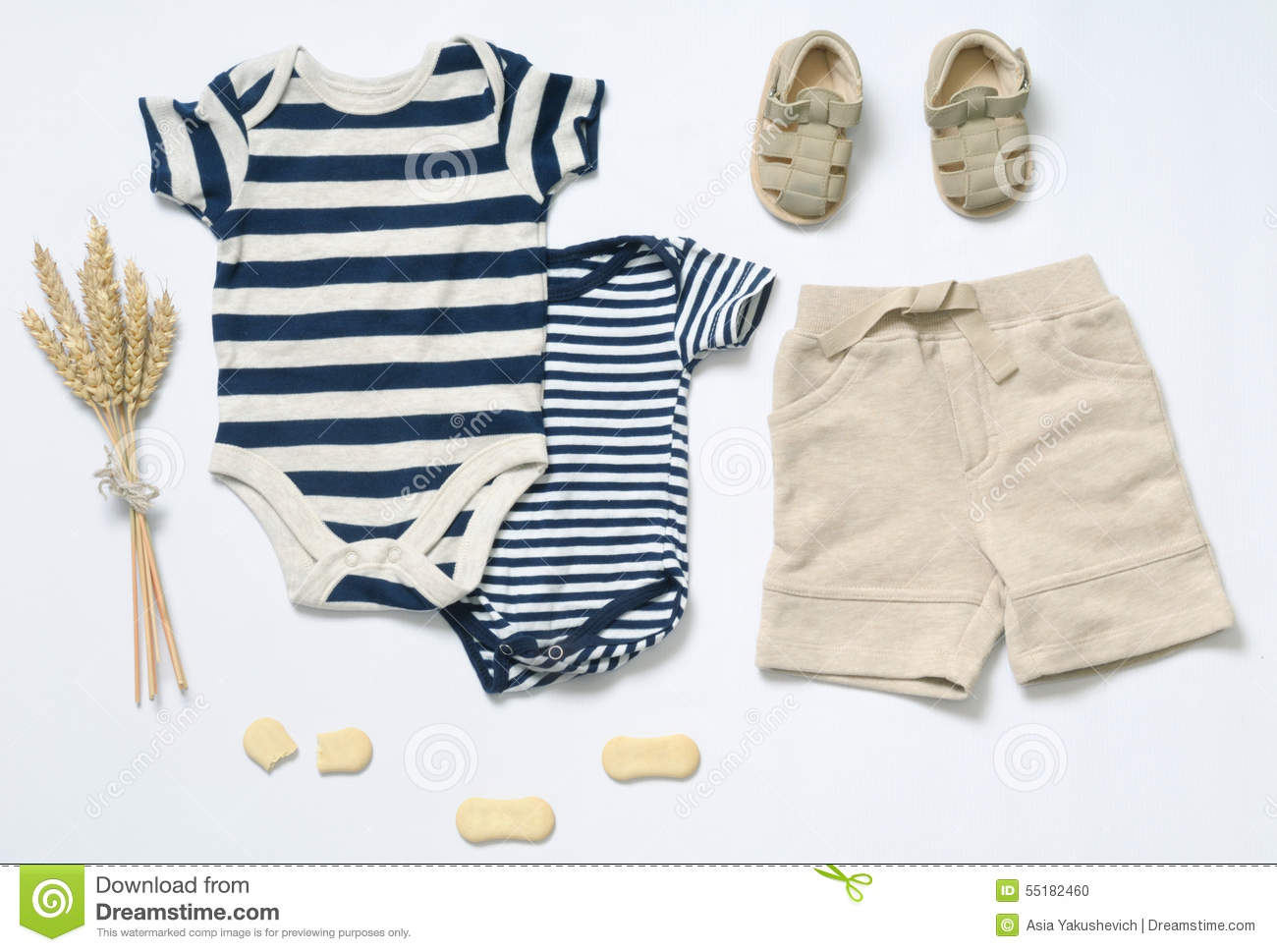 Top View Fashion Trendy Look Of Baby Boy Clothes Stock Photo - Image ... 7a94ede82