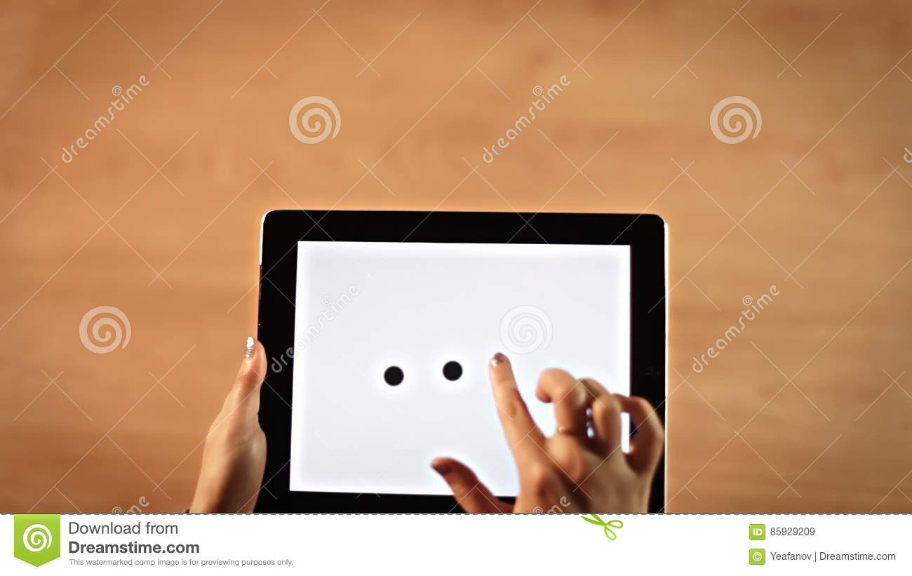 Top view female hands drawing three dots symbol on tablet stock top view female hands drawing three dots symbol on tablet stock video video 85929209 biocorpaavc