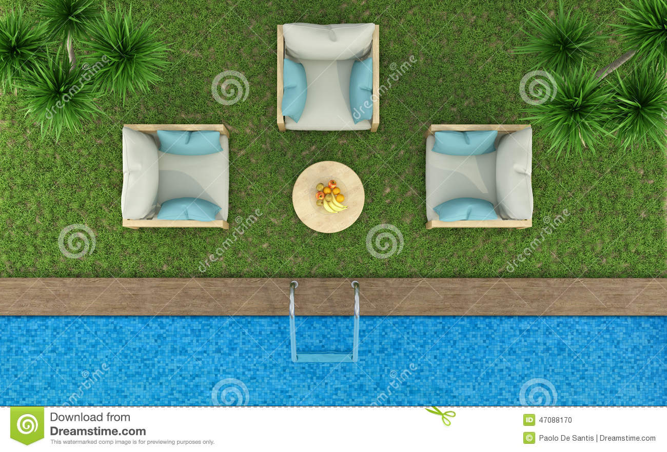royalty free illustration download top view of a garden