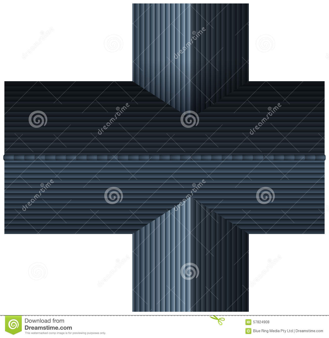 Top View Of Gray Rooftop Stock Vector Illustration Of