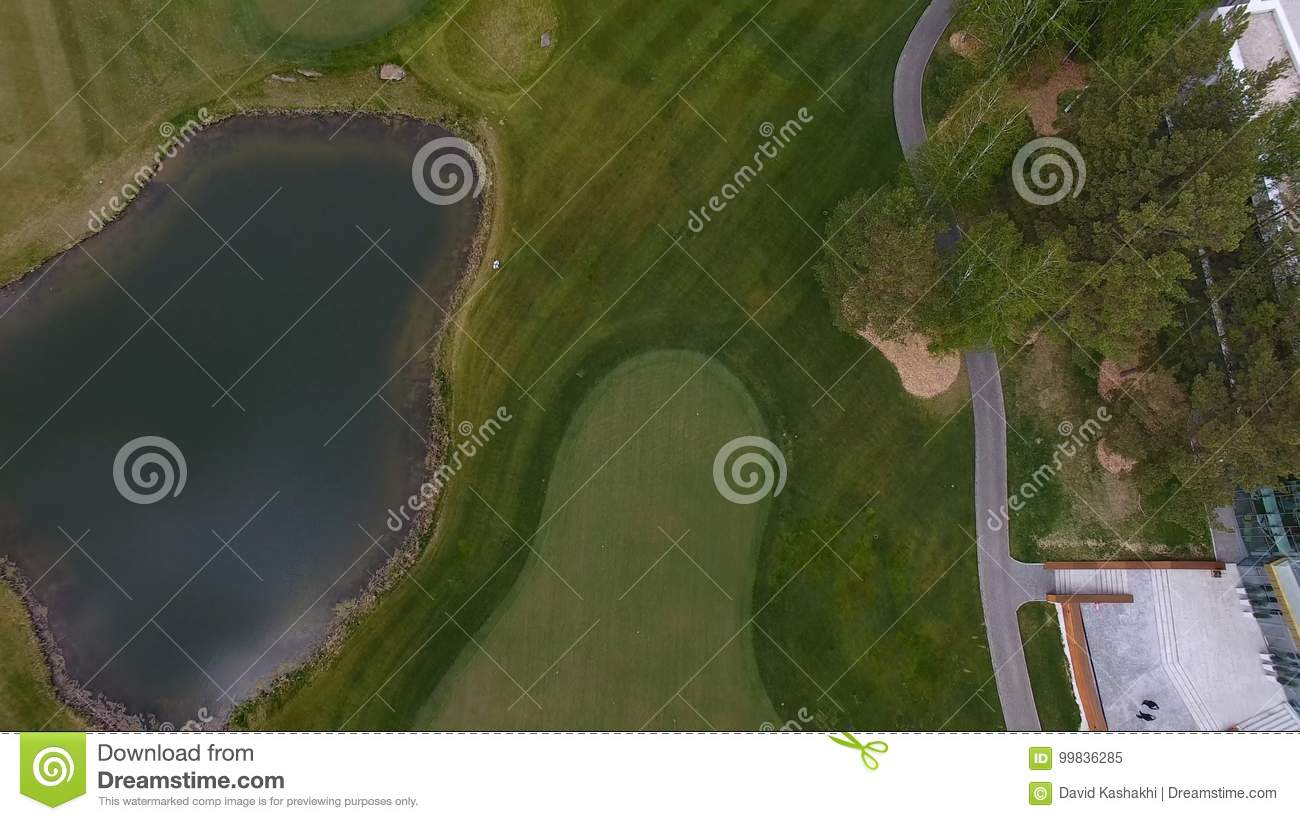 grass field aerial. Royalty-Free Stock Photo Grass Field Aerial E