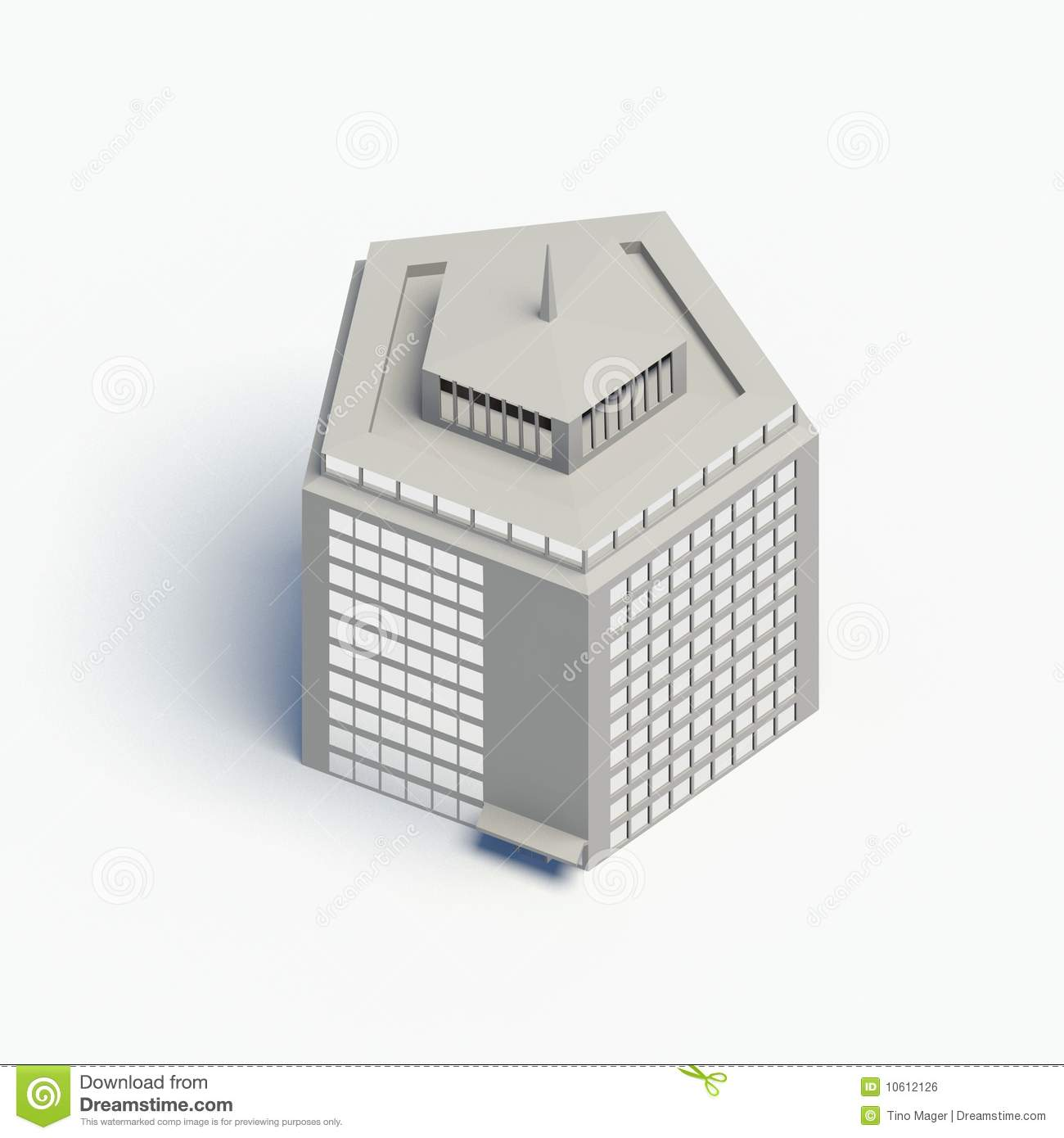 Top View House Pentagon Royalty Free Stock Image Image