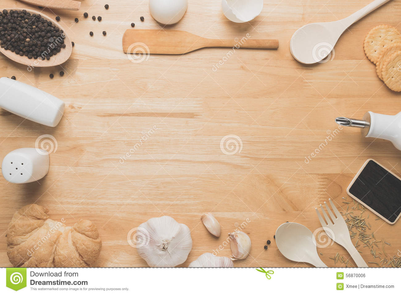 Kitchen Utensils Background top view kitchen mockup,rural kitchen utensils on wooden table