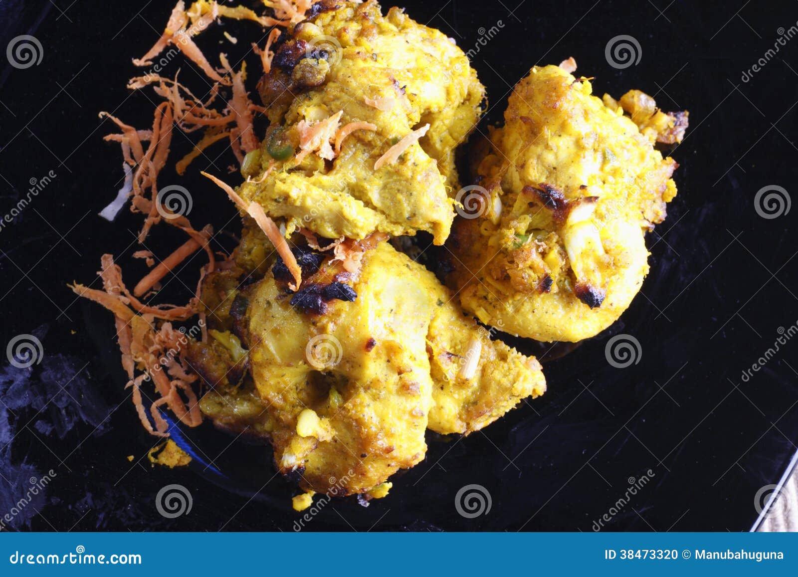 -lemon-garlic-tikka-india-chicken-dish-popular-made-grilling-chicken ...